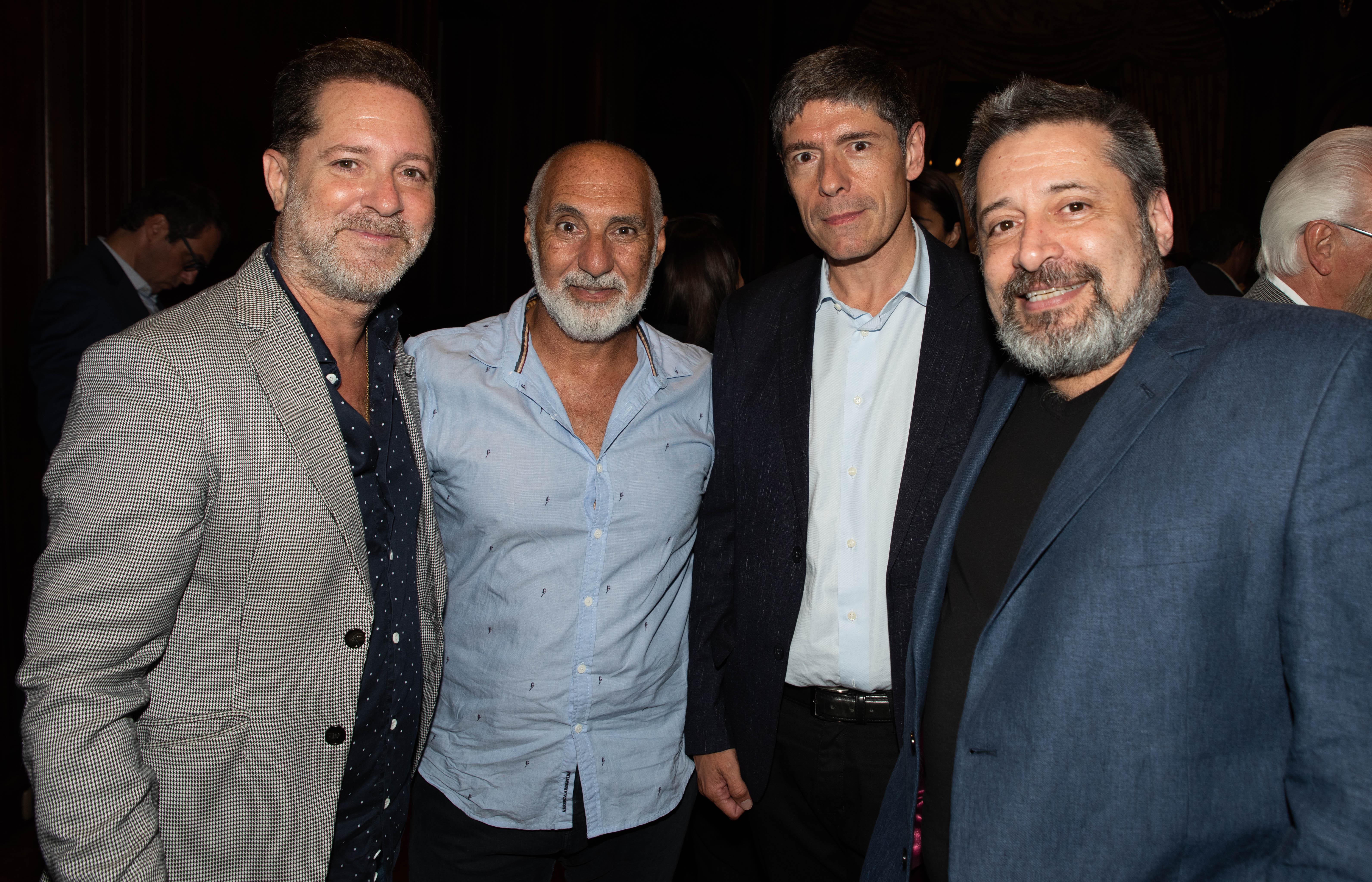 Paul Kirzner junto a Juan Manuel Abal Medina y Víctor Santa María