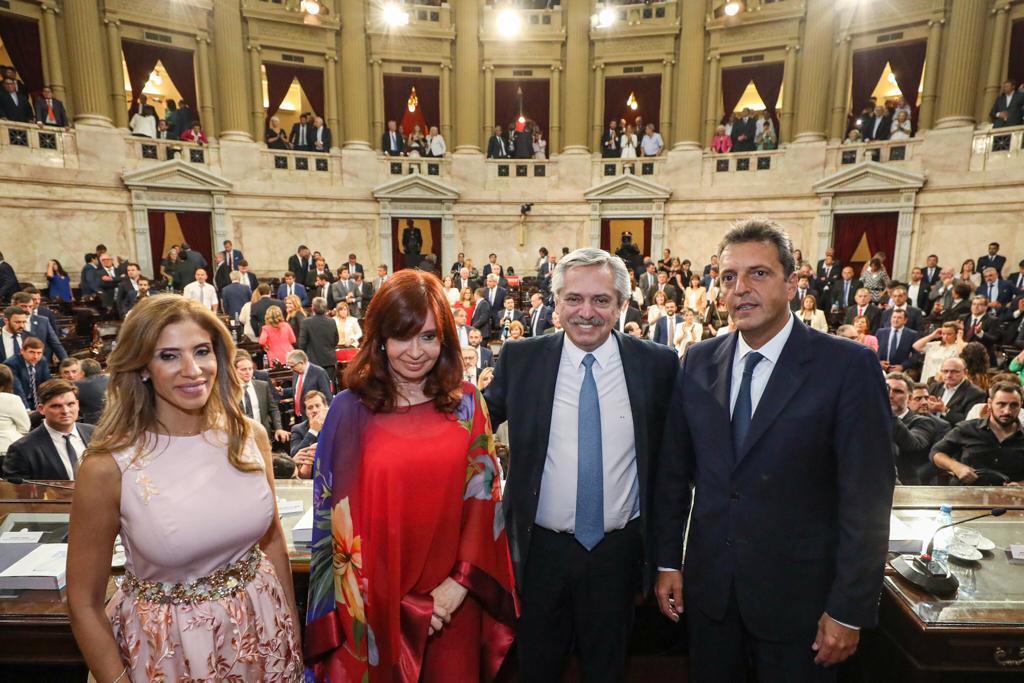 Claudia Ledesma Abdala, Cristina Kirchner, Alberto Fernández y Sergio Massa