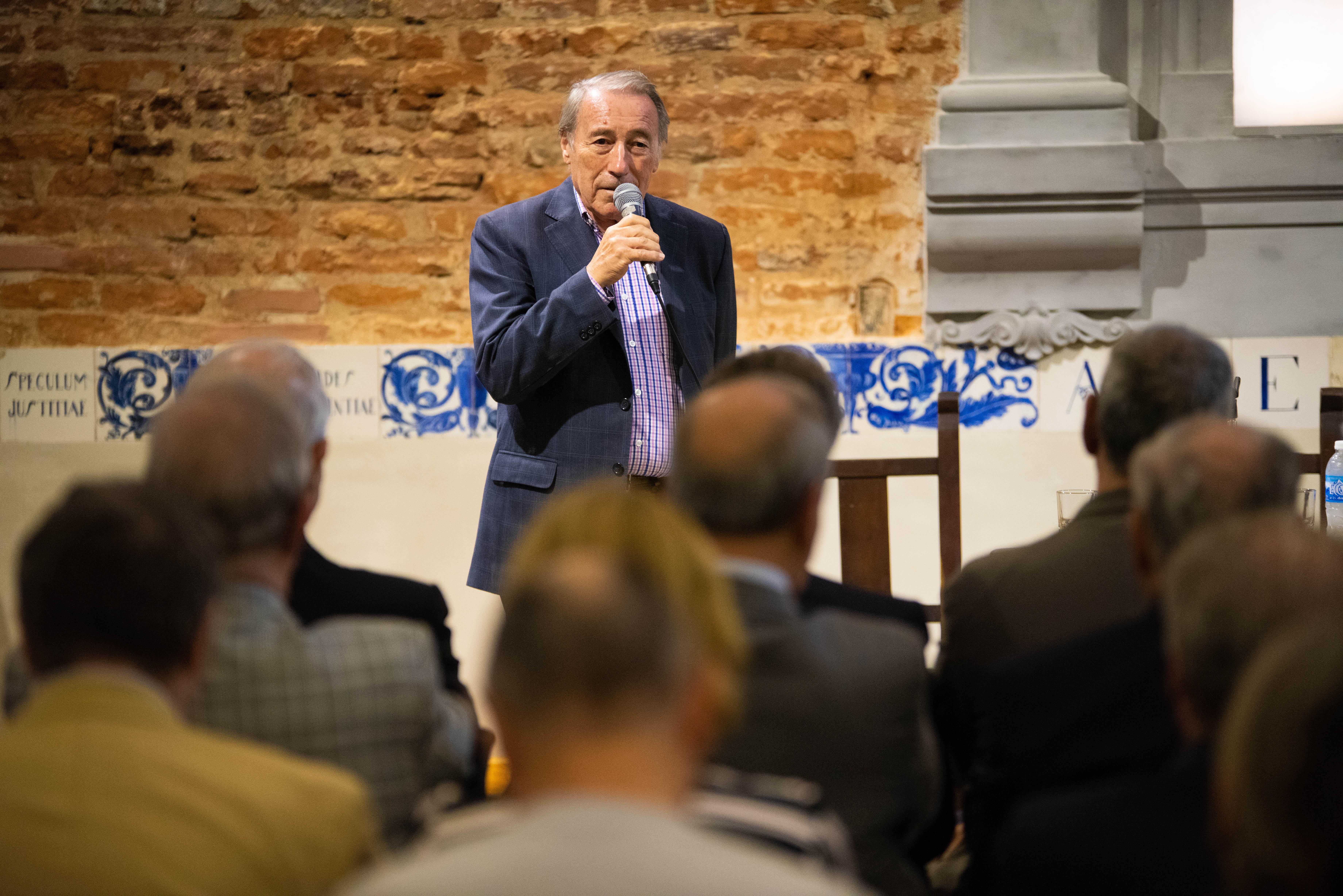 El presidente de Casa Común, José Ignacio López, durante el discurso de apertura.