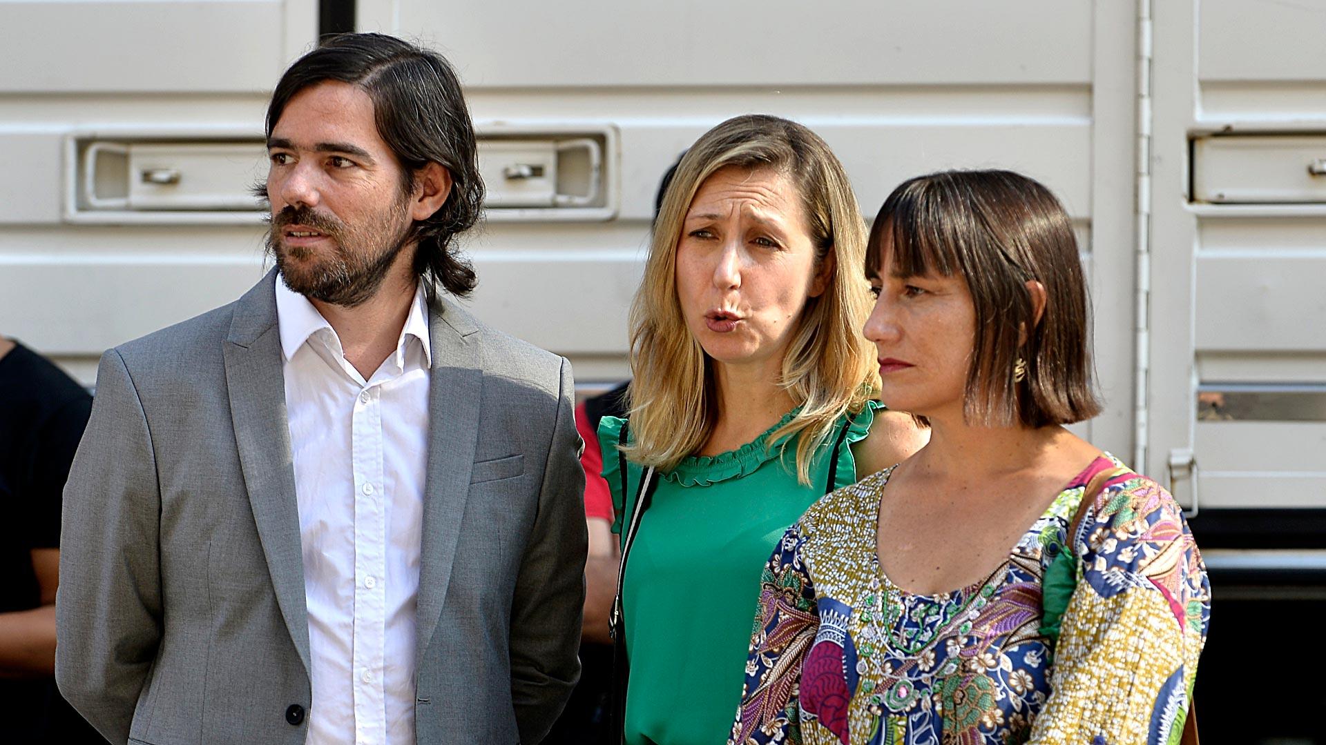 Los dirigentes de la Izquierda Nicolás del Caño, Miriam Bregman y Romina Del Plá