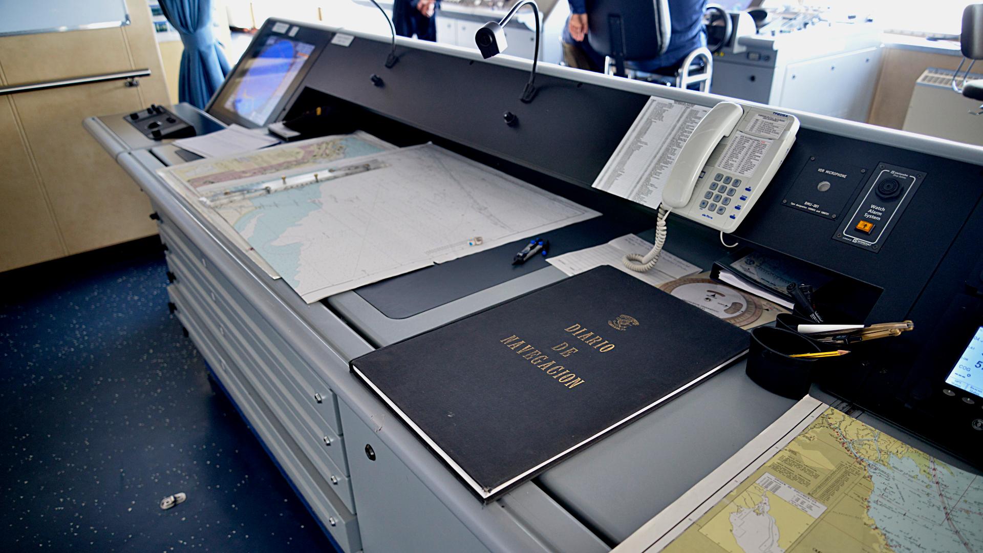 El diario de navegación del buque