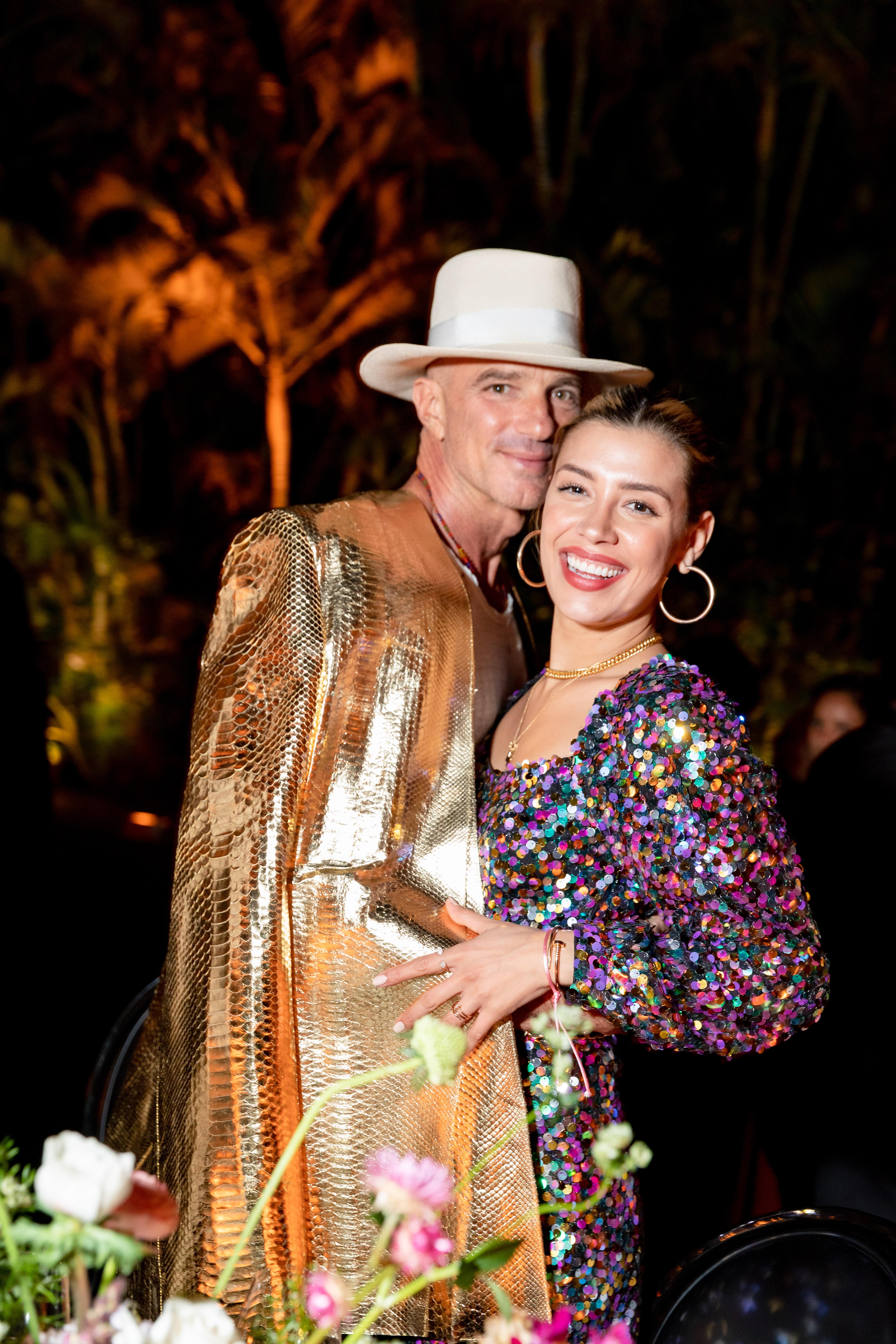 Alan Faena junto a Michelle Salas, la hija de Luis Miguel, con quien el empresario estaría viviendo un romance