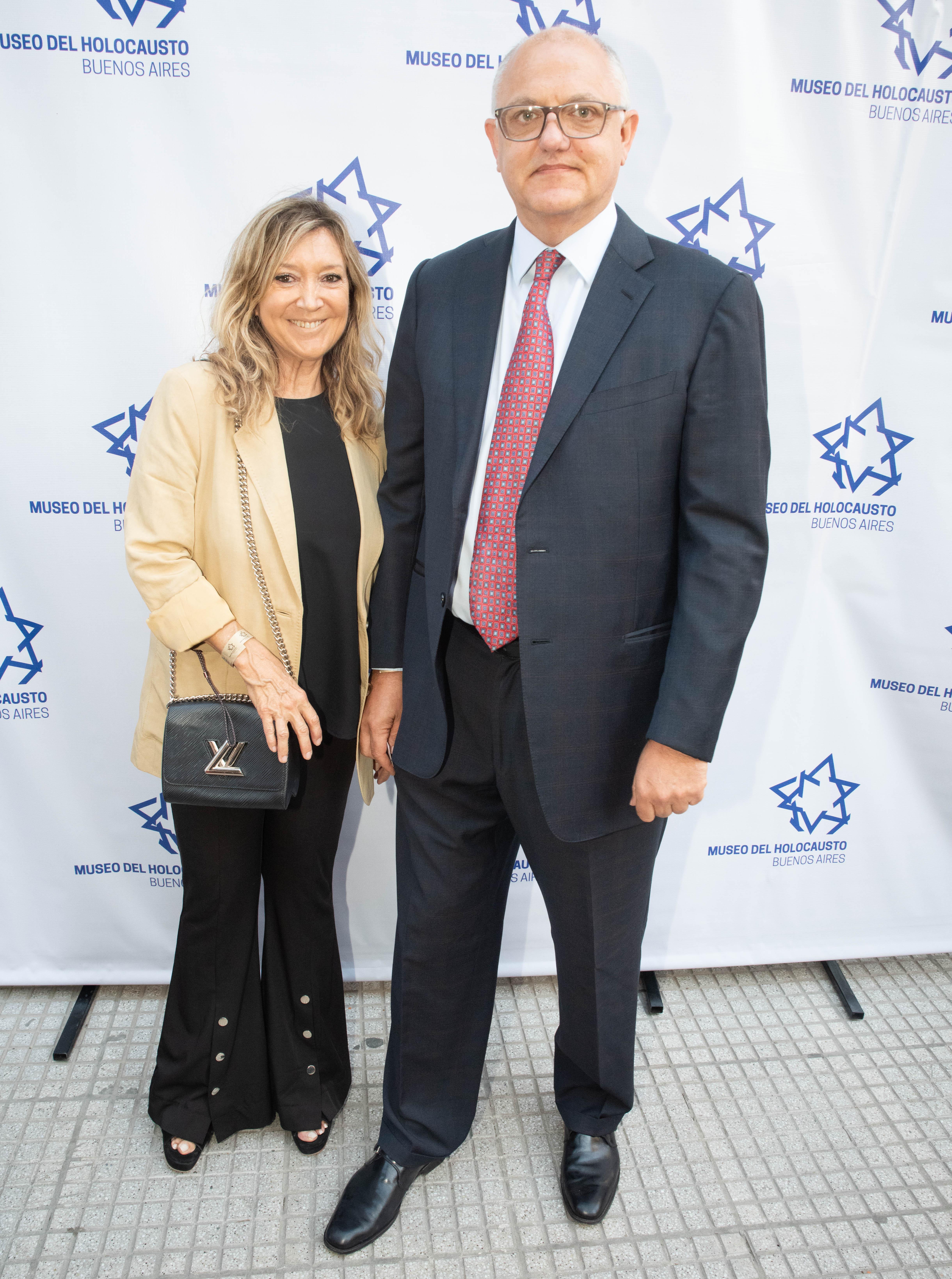 Javier Timerman y su mujer