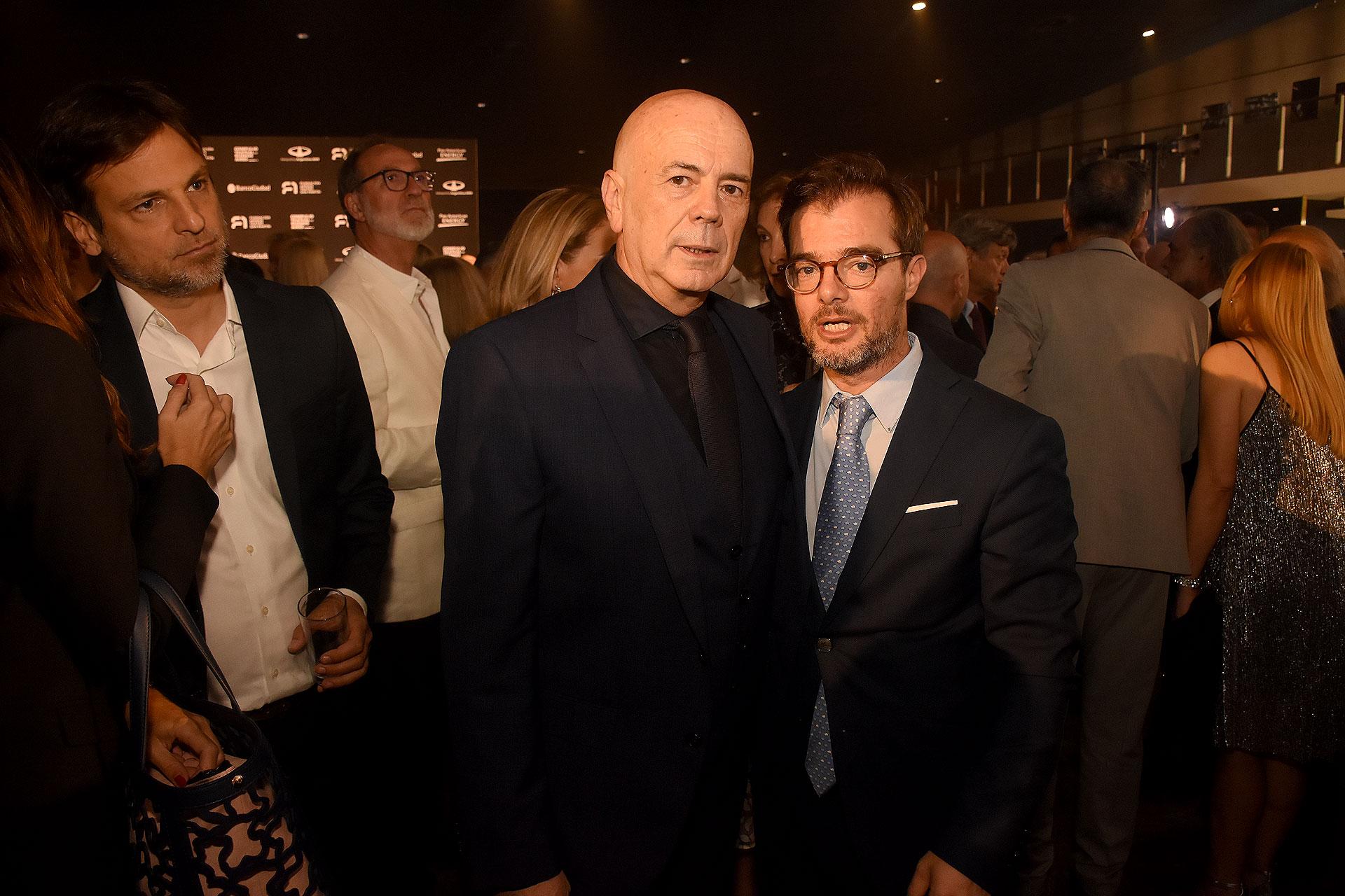 Jorge Telerman, director del Complejo Teatral de Buenos Aires, y Enrique Avogadro, ministro de Cultura porteño