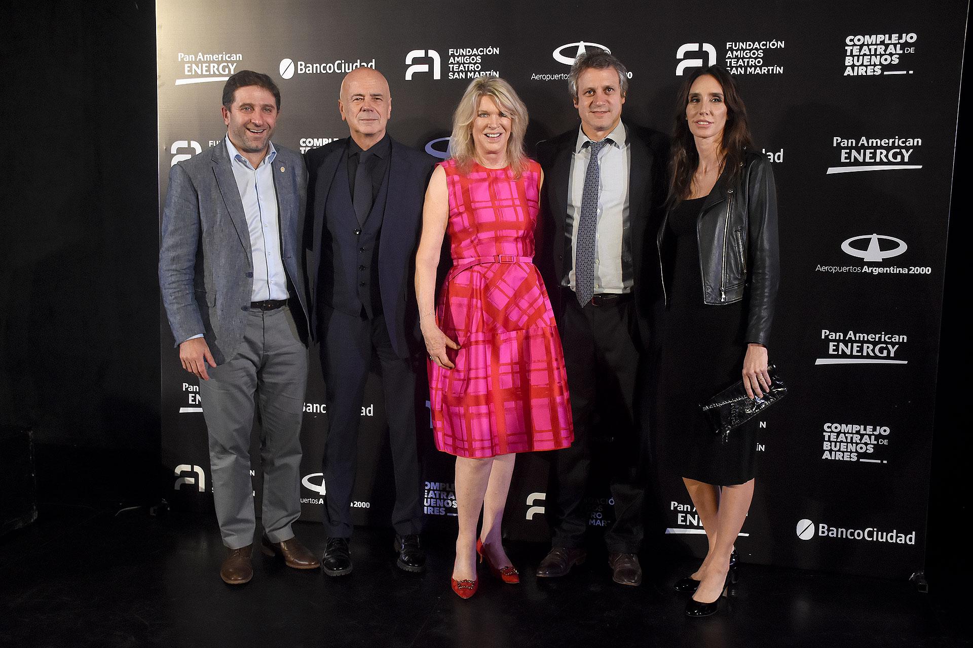 Fernando Straface, Jorge Telerman, Eva Thesleff de Soldati, Felipe Miguel y su mujer