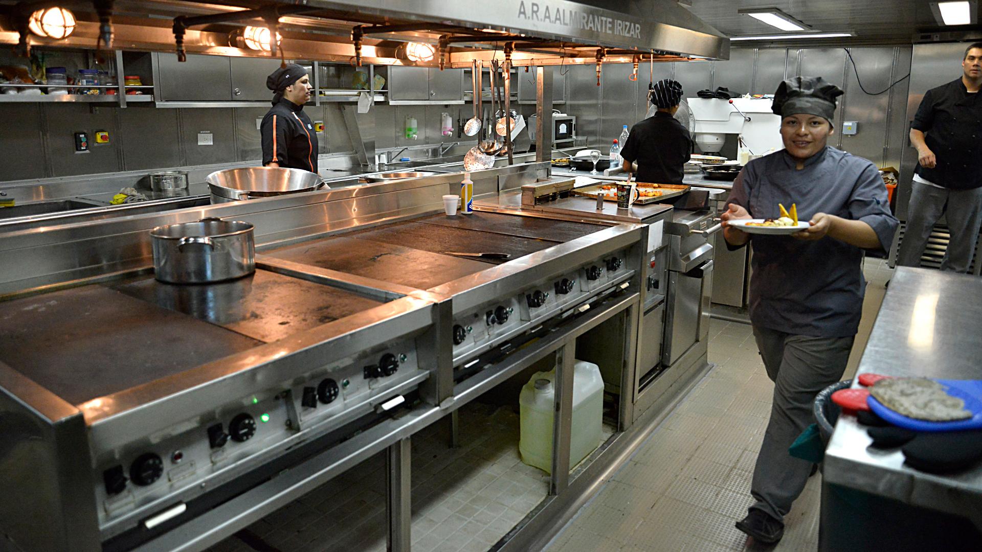 La cocina del buque