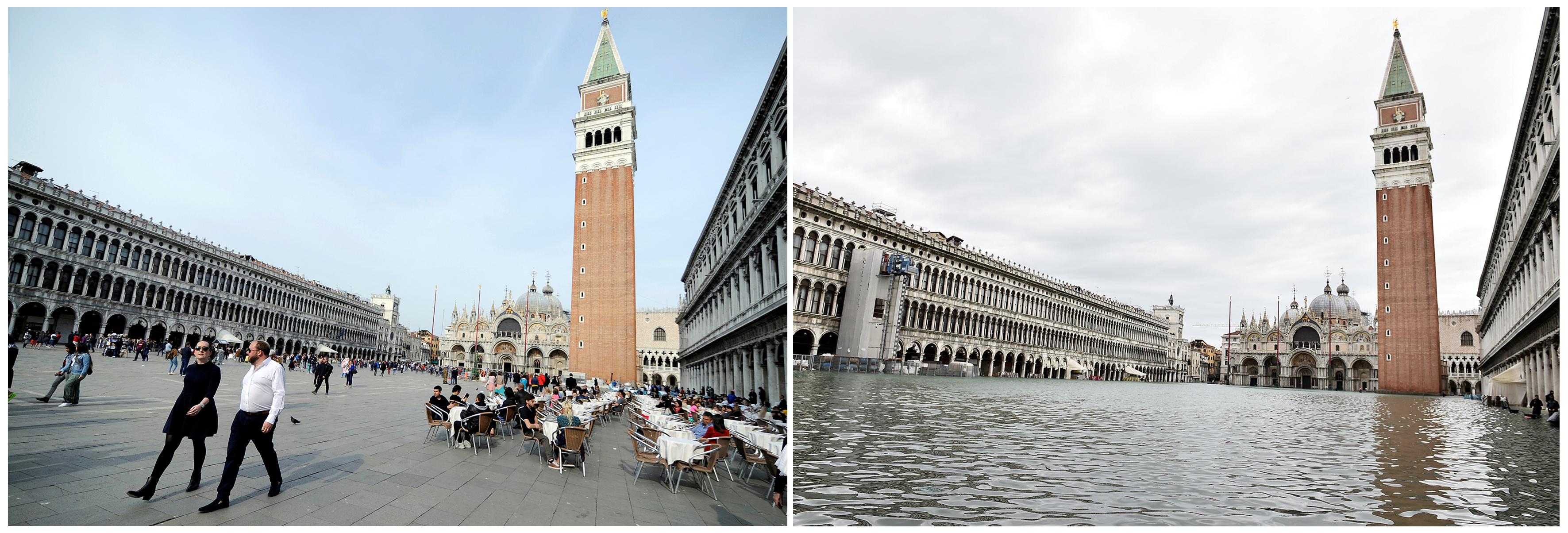 Los turistas ya no pueden recorrer el centro más tradicional de la ciudad italiana, ícono del país (REUTERS/Guglielmo Mangiapane, Flavio Lo Scalzo)