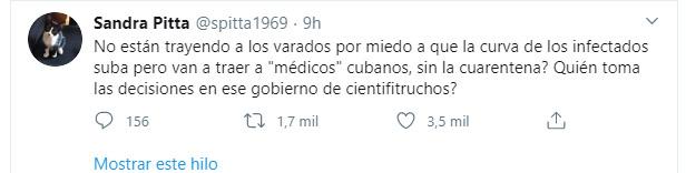 El mensaje de la científica Sandra Pitta