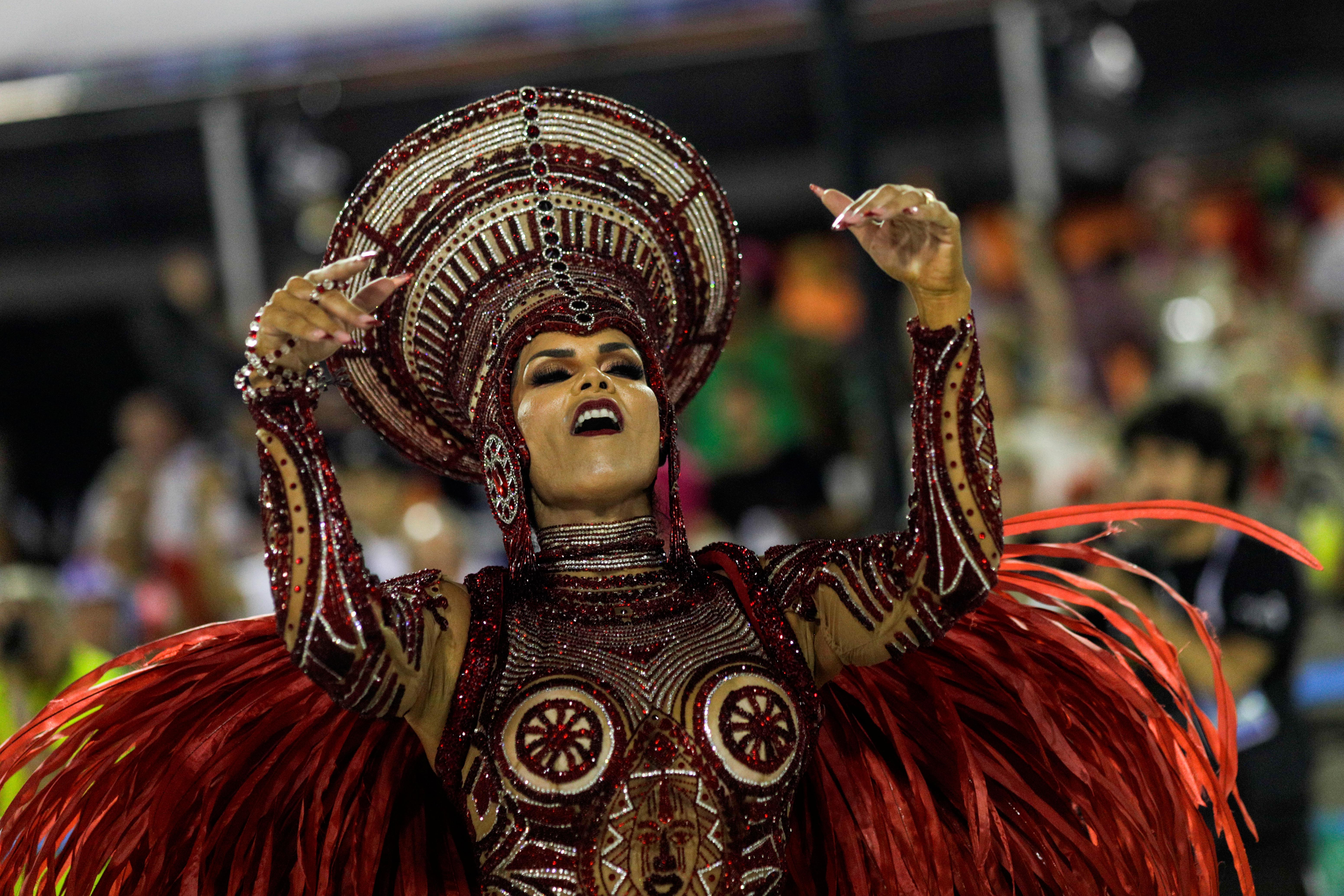Raissa Machado de la Viradouro samba school REUTERS/Ricardo Moraes