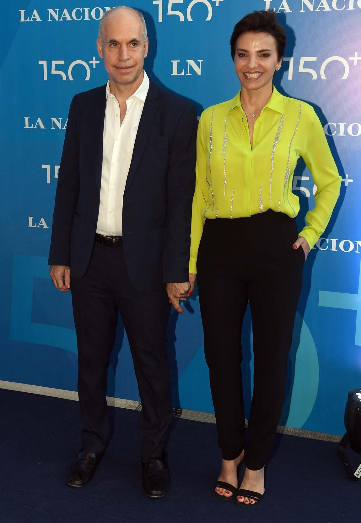 El jefe de Gobierno porteño, Horacio Rodríguez Larreta, y su mujer Bárbara Diez
