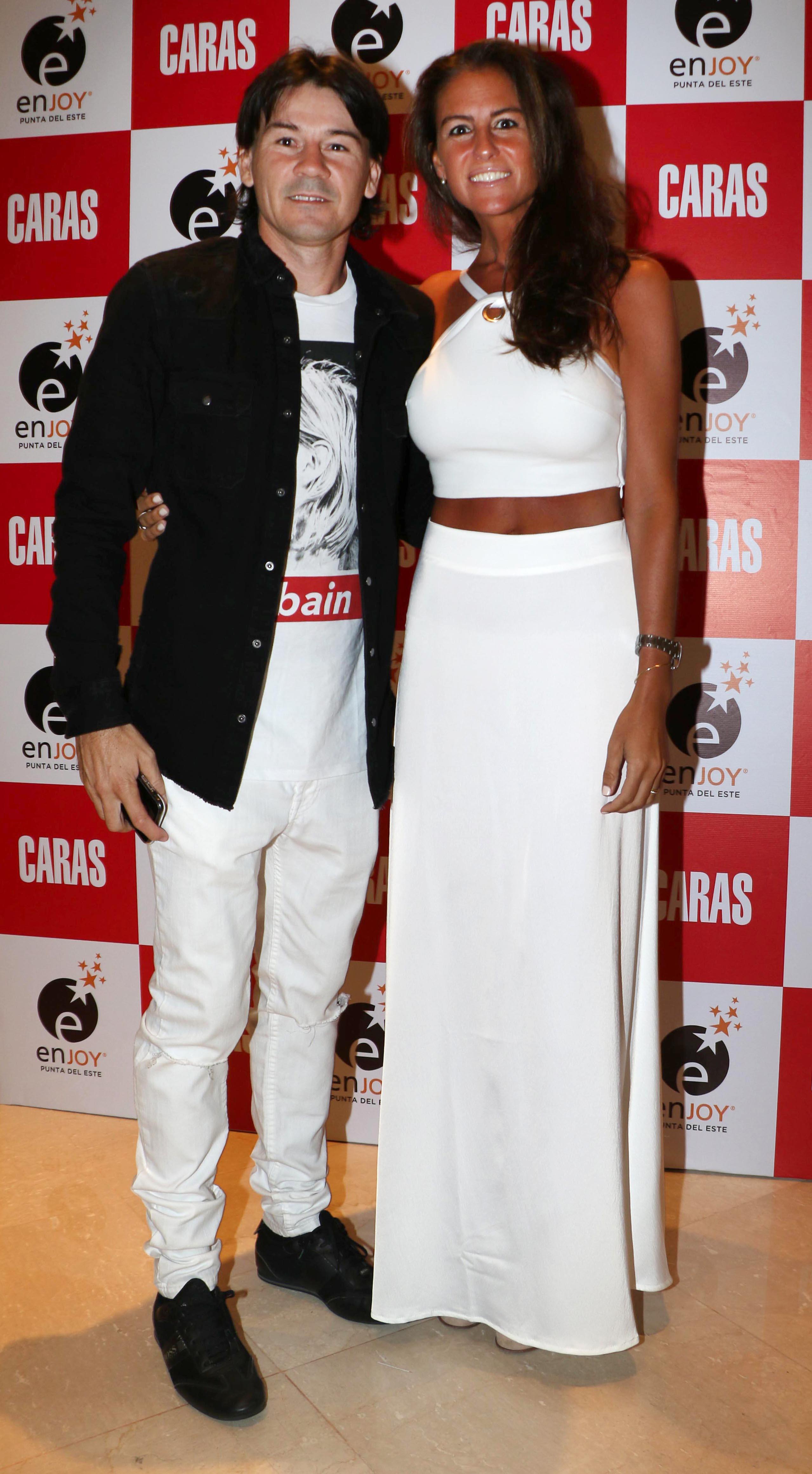 Guillermo Coria y su mujer
