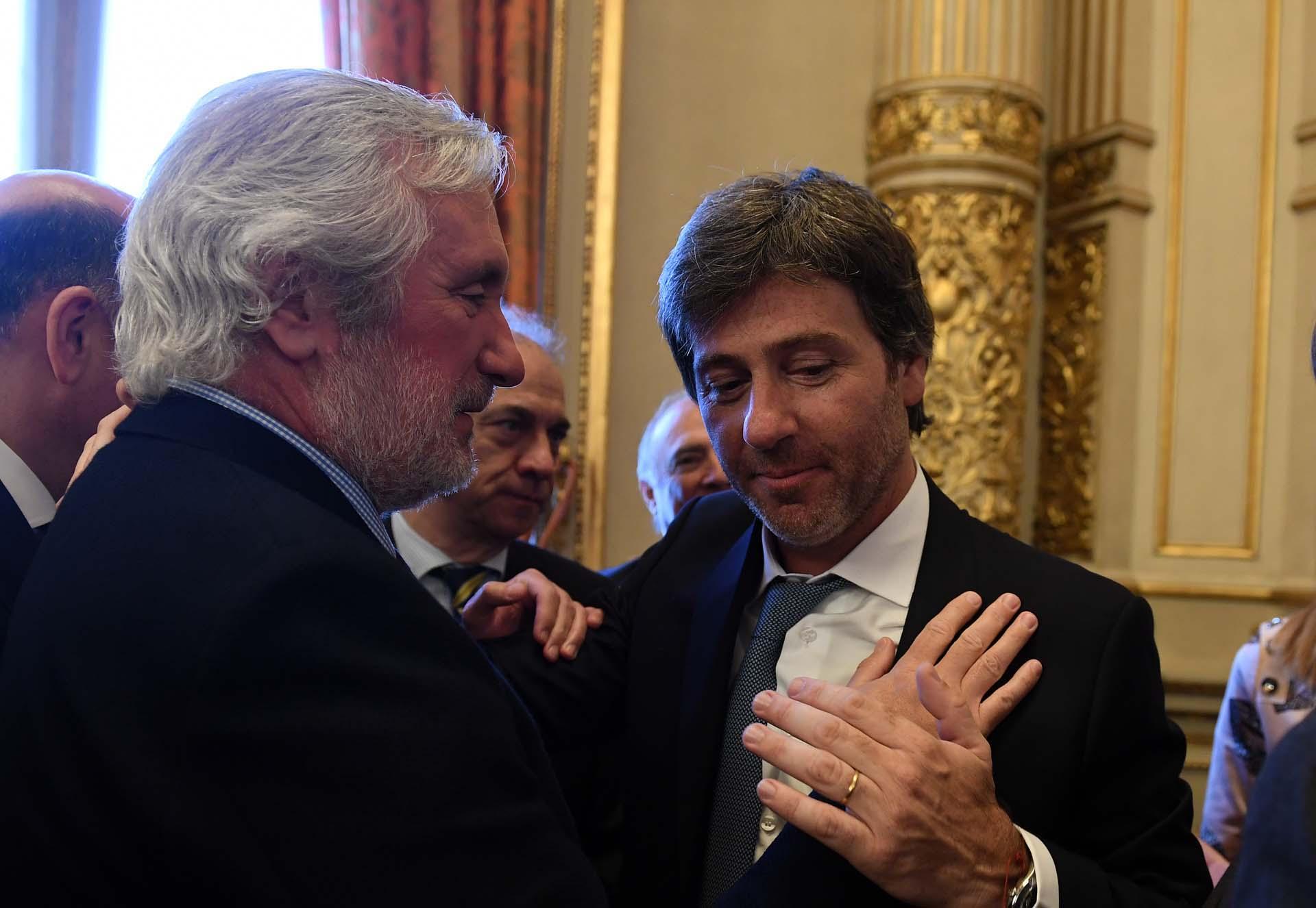 El procurador de la Provincia de Buenos Aires, Julio Conte Grand, y Juan Bautista Mahiques.