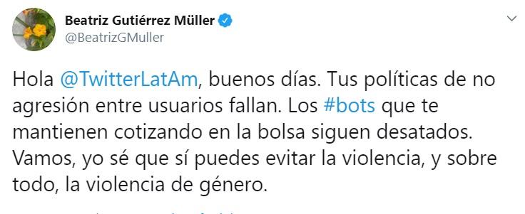 Así cuestionó la doctora Gutiérrez a Twitter (Foto: Archivo)