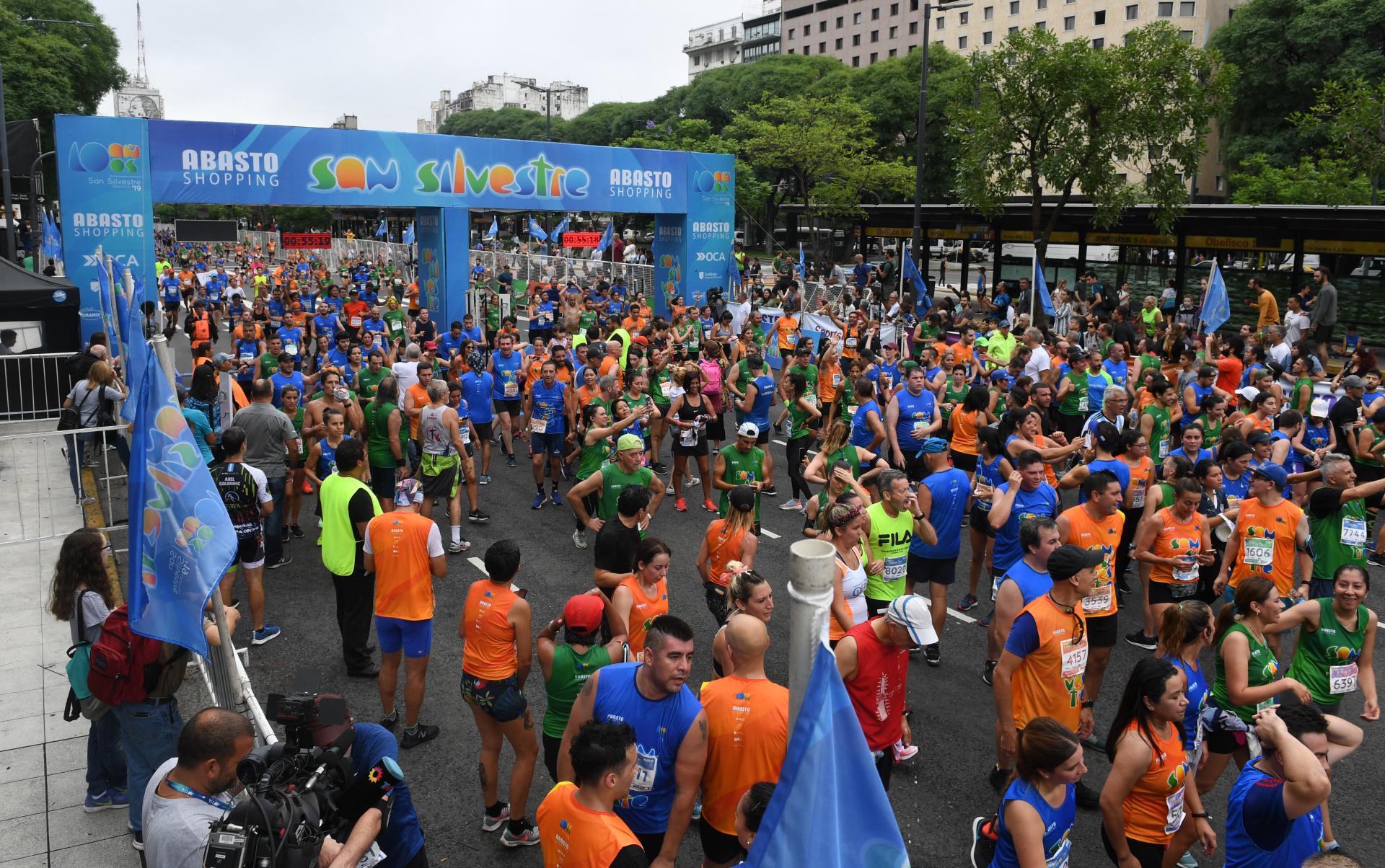 Fueron más de 12 mil personas las que asistieron a la última maratón del año en Buenos Aires (Maximiliano Luna)