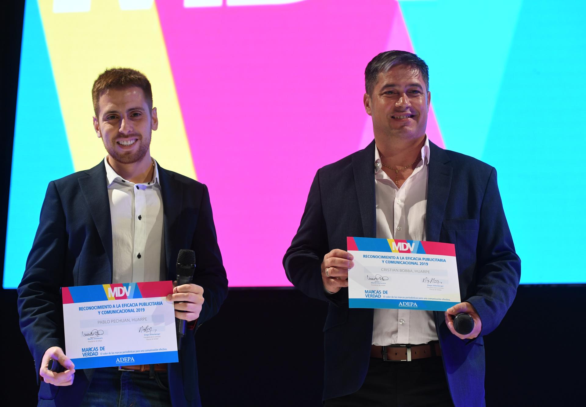 Pablo Pechuan, gerente de Proyectos de Diario Huarpe (San Juan), y Cristian Bobba, gerente Comercial de Diario Huarpe