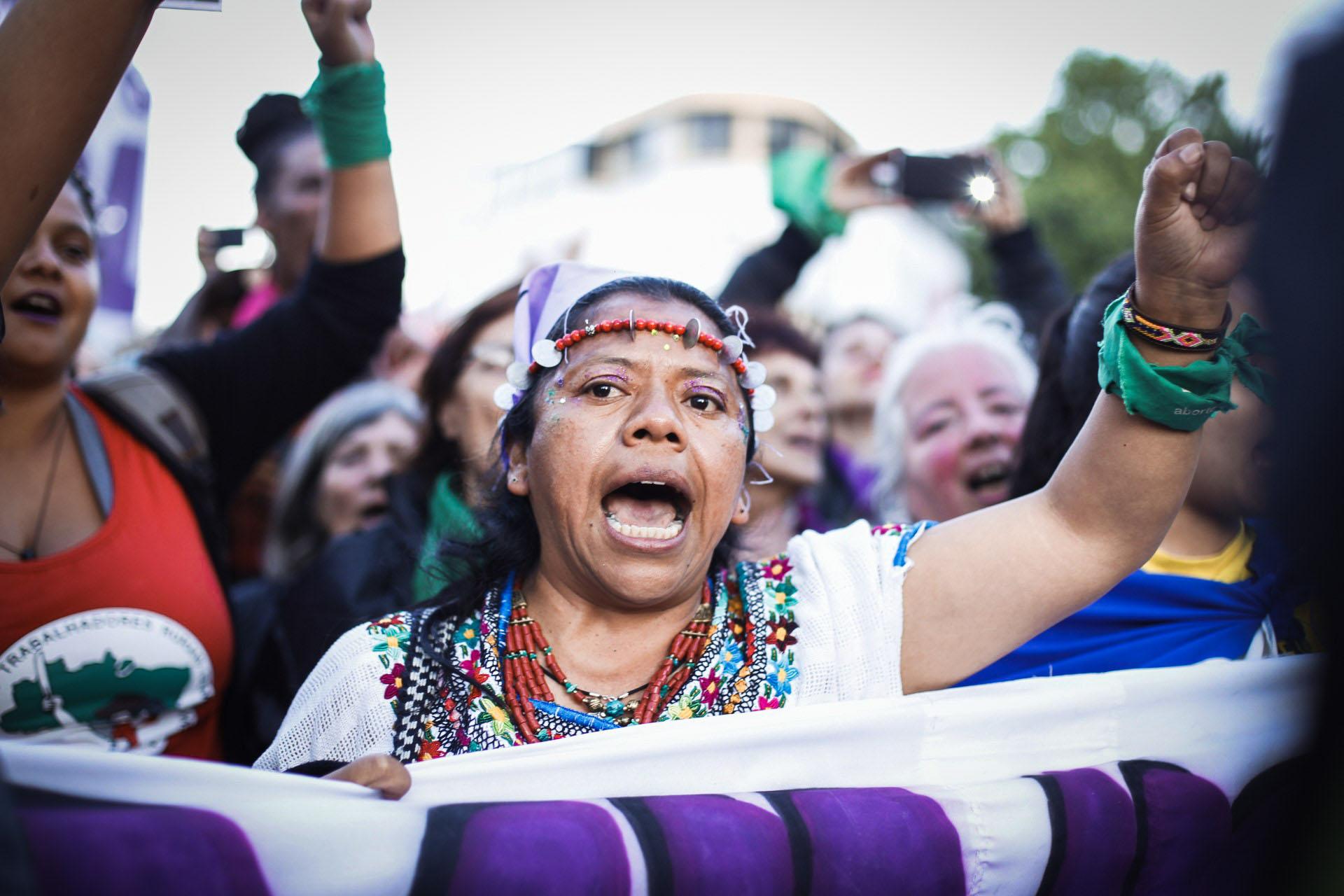 """Se debatió el cambio de nombre a """"Plurinacional"""" para incluir a las mujeres de los pueblos originarios que habitan Argentina"""