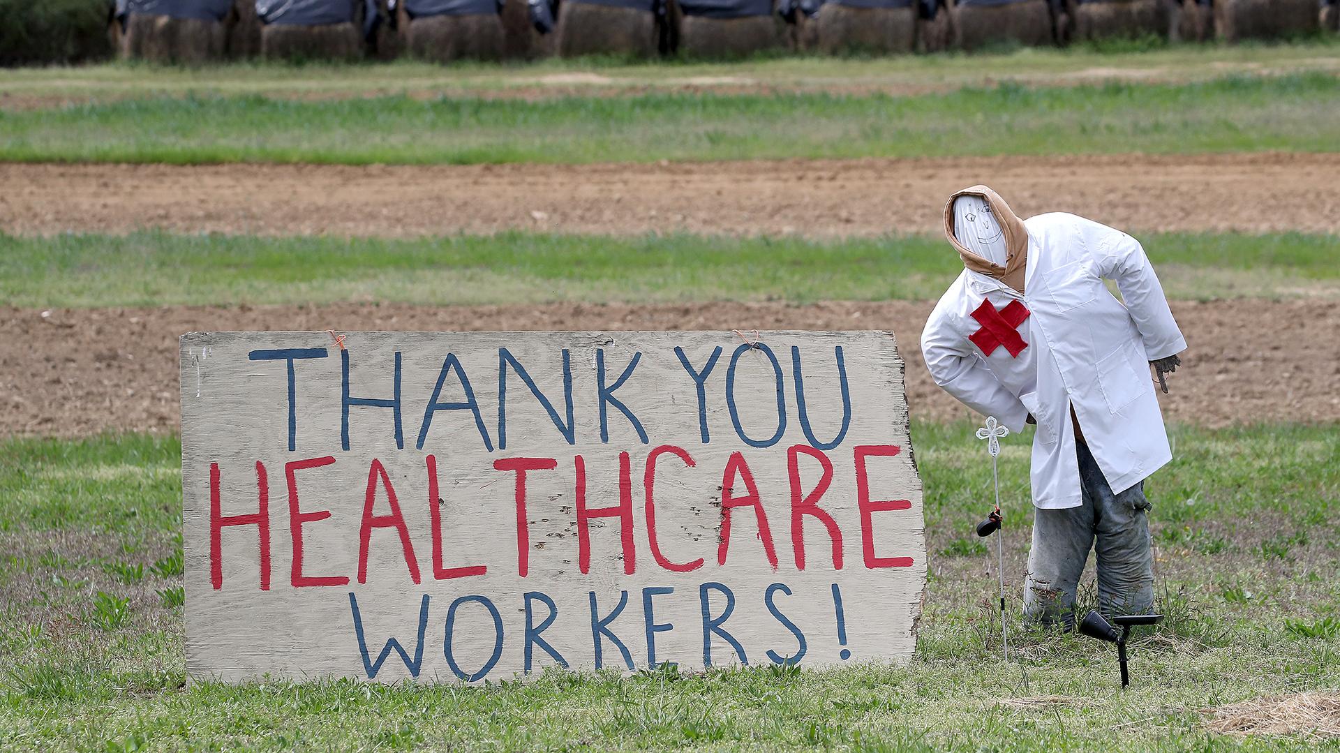 El homenaje en un campo deOwings, Maryland.Mark Wilson/Getty Images/AFP