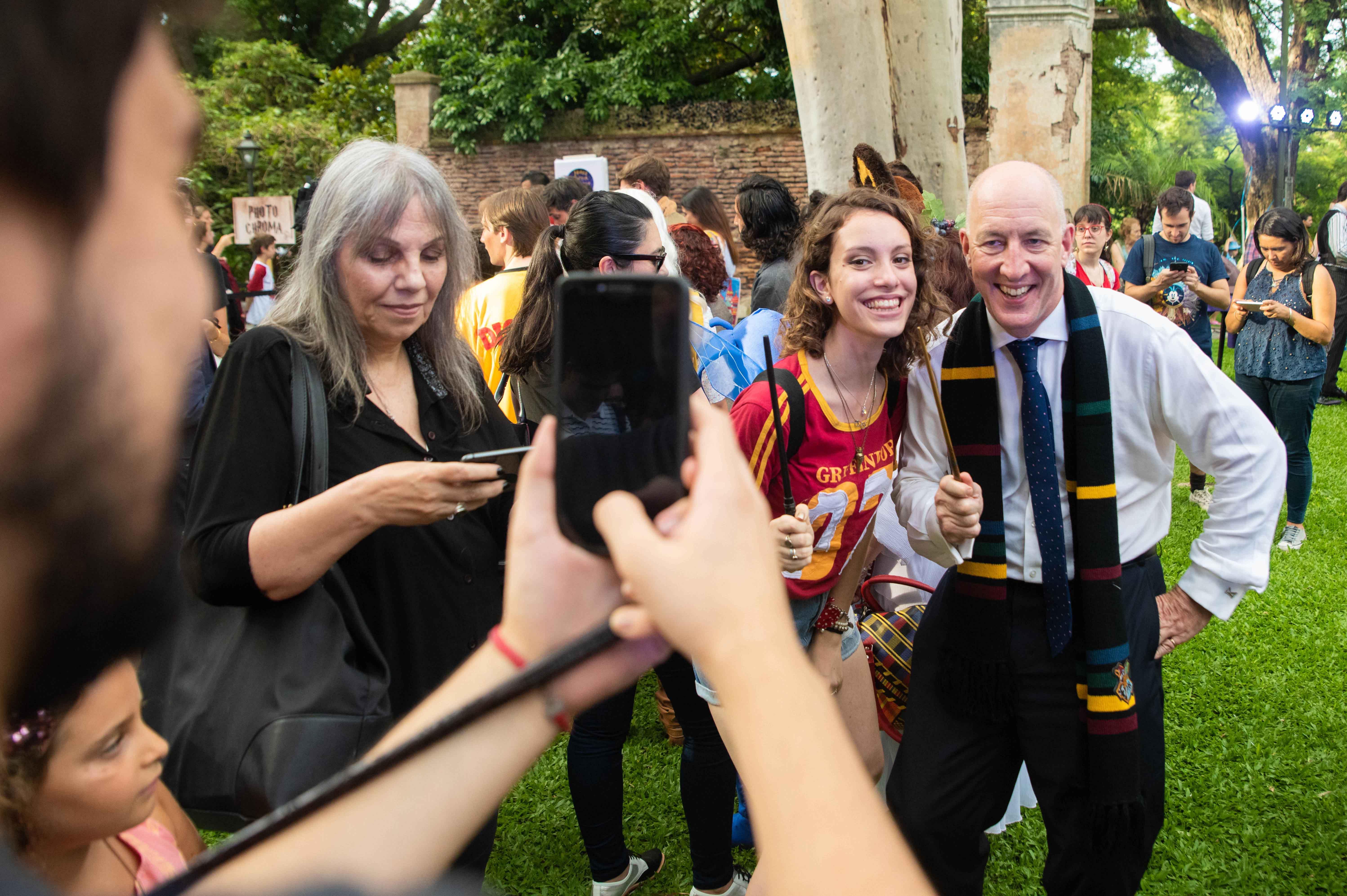 El embajador británico en la Argentina, Mark Kent, participó de la jornada