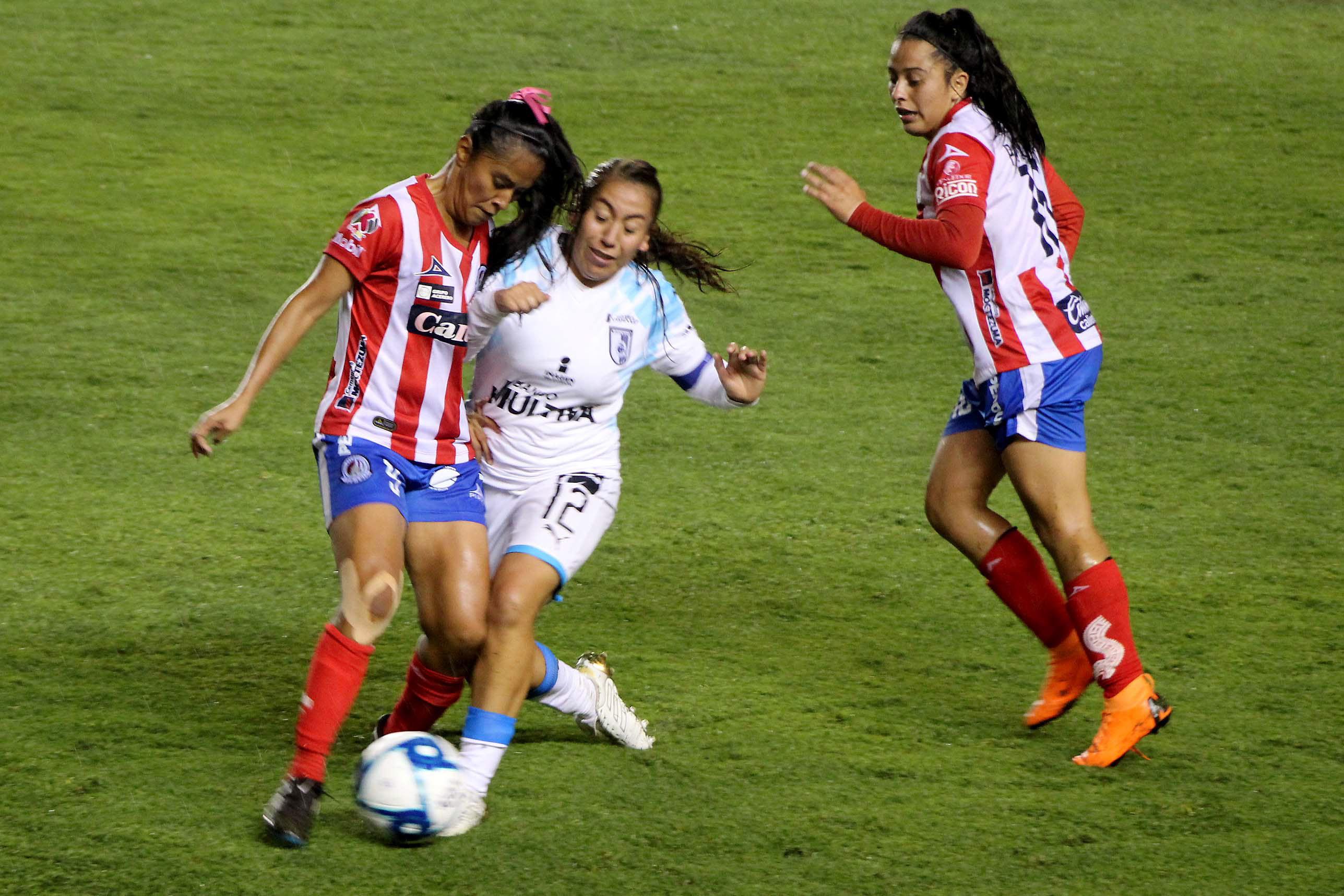 San Luis Potosí, 27 de agosto del 2019, en la jornada 8 de la Liga MX Femenil llevada a cabo en el estadio Alfonso Lastras de la capital potosina, equipo Atlético San Luis Femenil perdió ante el equipo visitante de Querétaro 2-0 (Foto: Cuartoscuro)