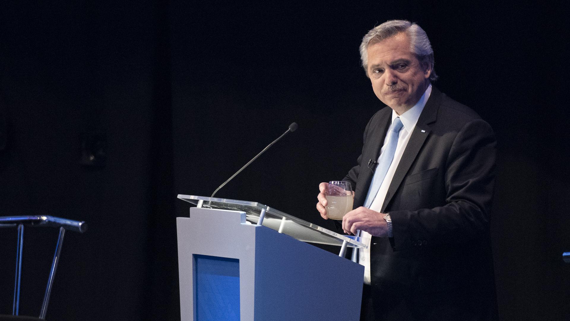 El candidato a presidente del Frente de Todos, Alberto Fernández