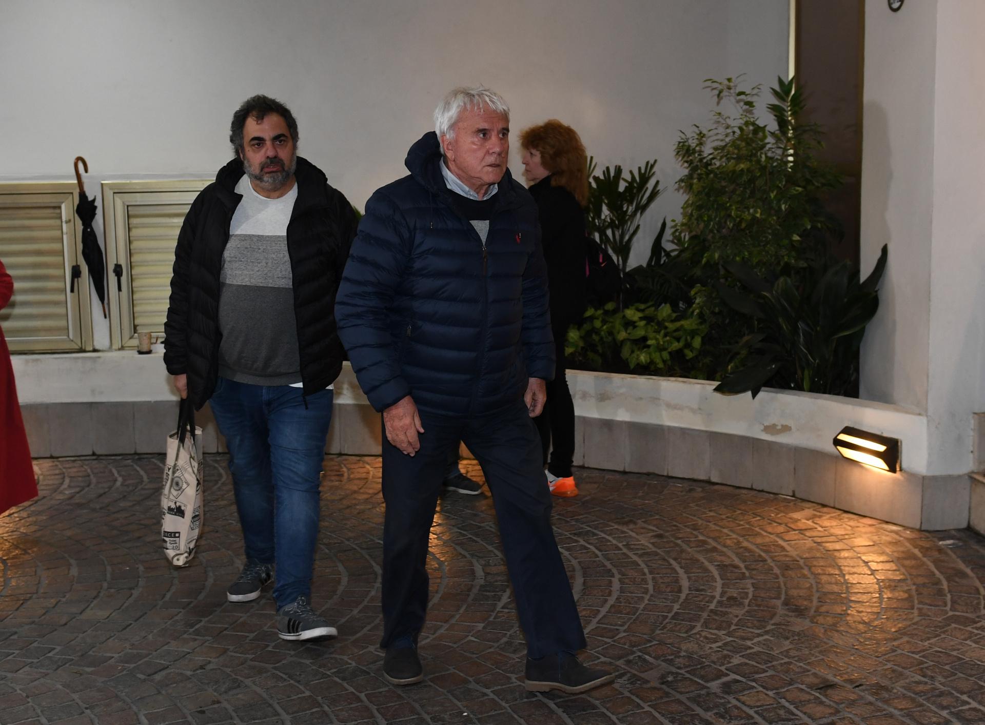 El periodista Fernando Bravo y el humorista Roberto Moldavsky