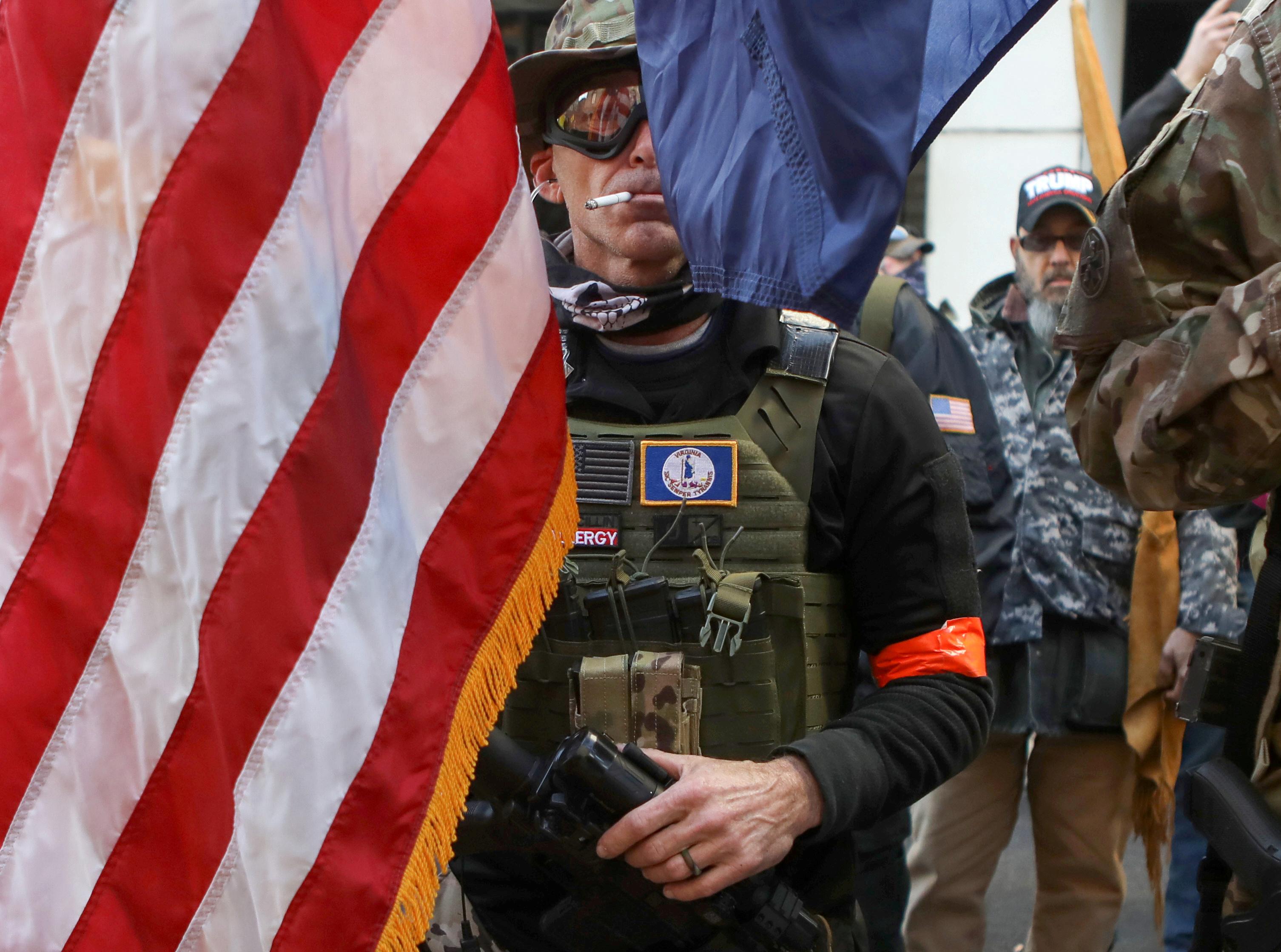 La manifestación ocurrió sin incidentes, a pesar de que el FBI temía la presencia de grupos de ultraderecha dispuestos a confrontar (REUTERS/Jim Urquhart)