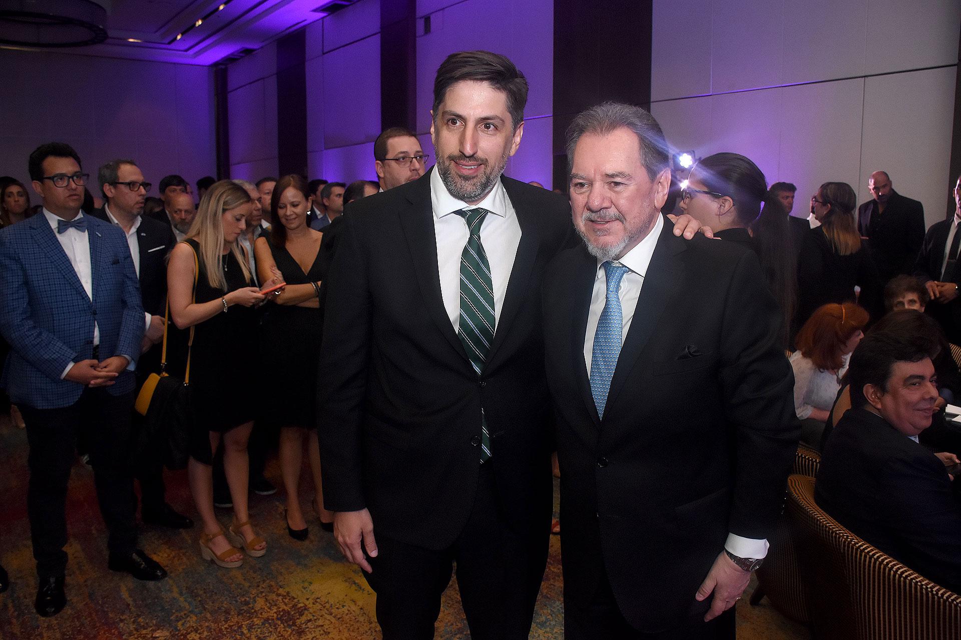 El ministro de Educación, Nicolás Trotta, y Mario Montoto
