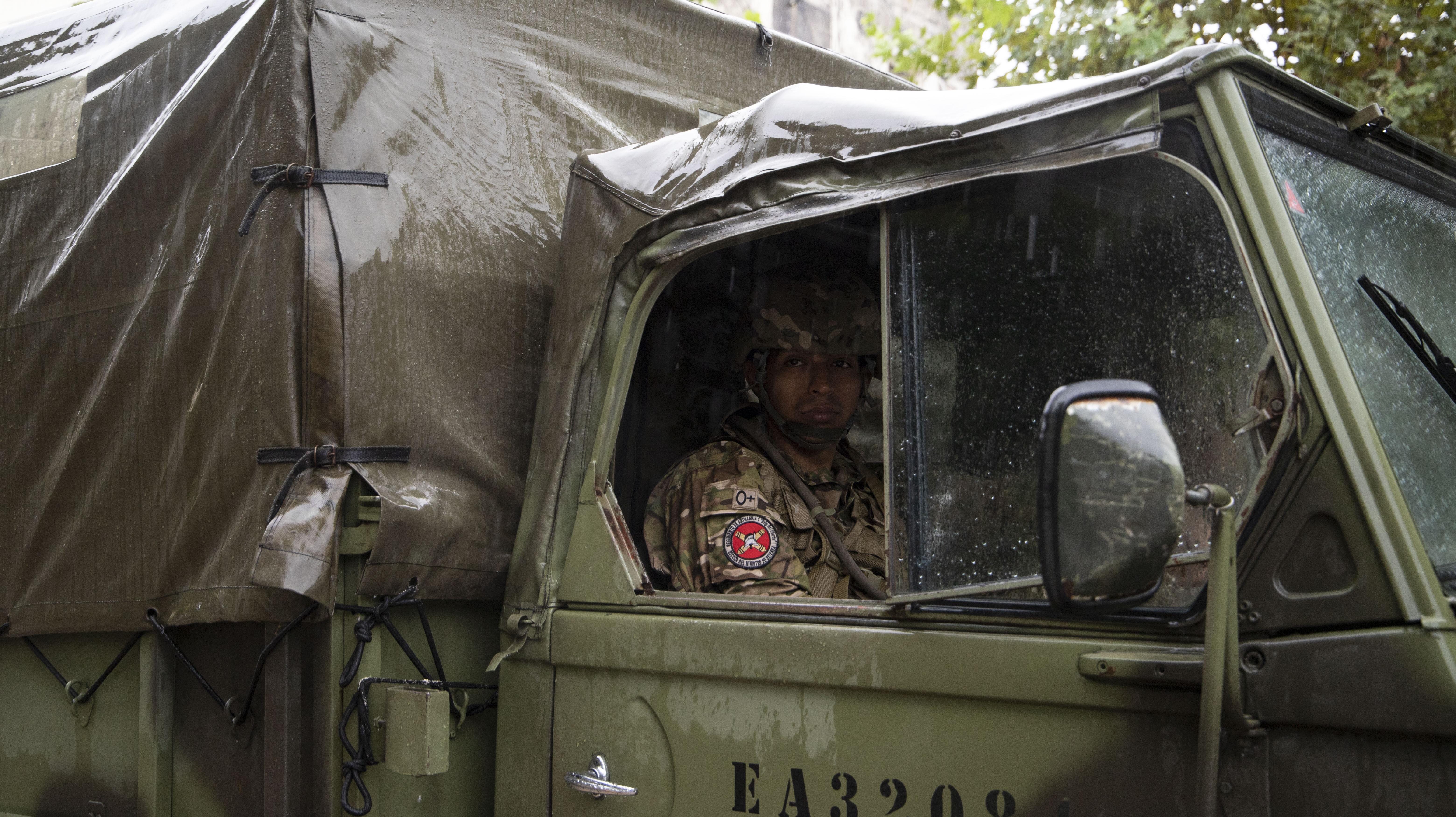 El primer operativo se hizo durante una lluvia torrencial que cayó sobre todos los distritos del conurbano