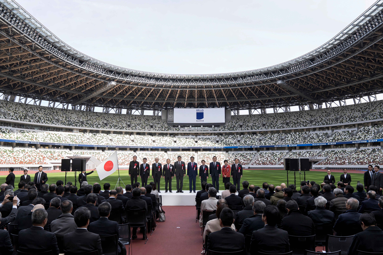 Tokio presentó este domingo su estadio olímpico, diseñado para afrontar las fuertes temperaturas durante los Juegos Olímpicos