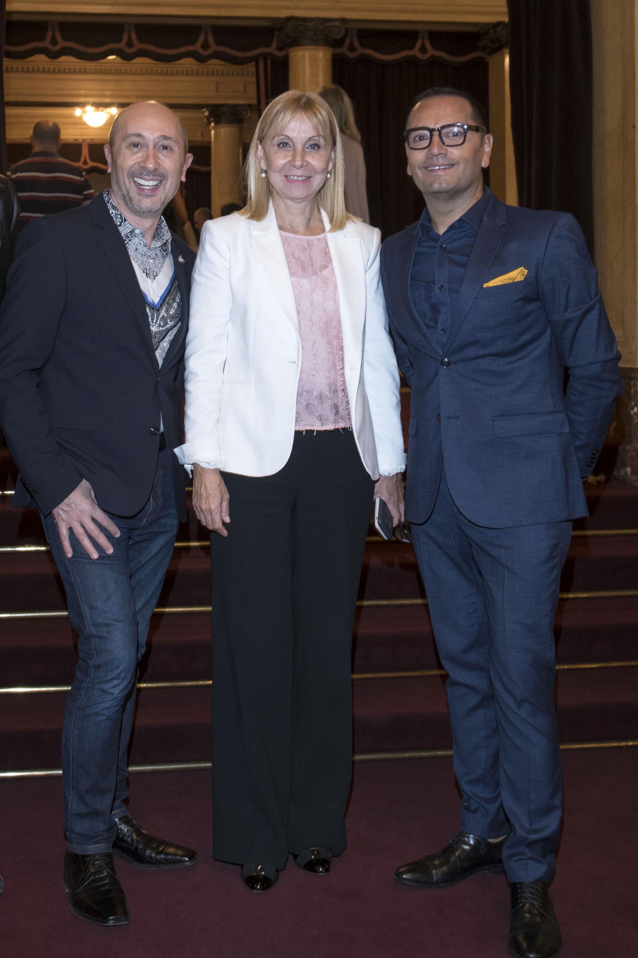 Claudio Cosano, María Victoria Alcaraz y Fabián Medina Flores