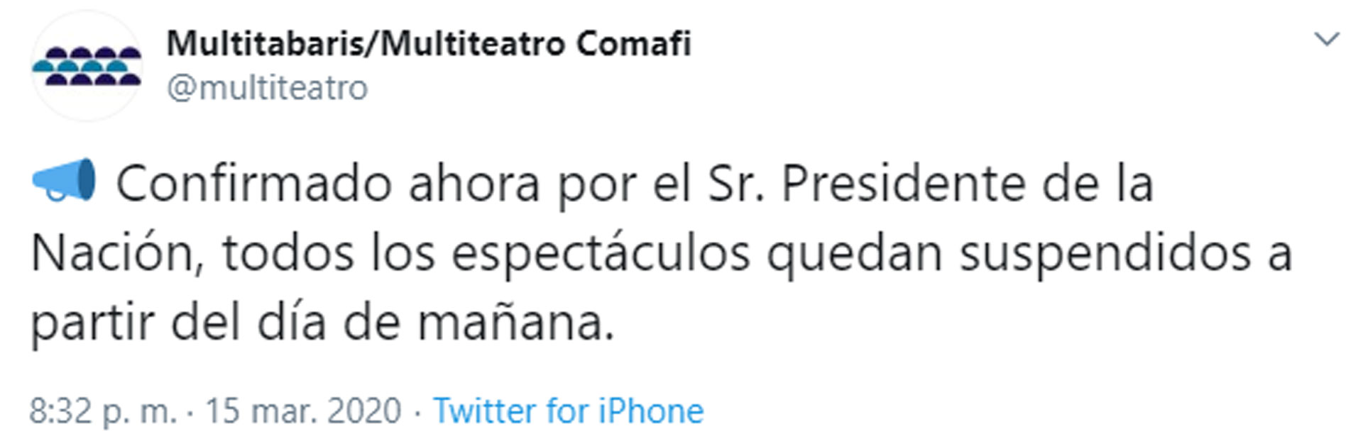 El mensaje de Carlos Rottemberg en Twitter