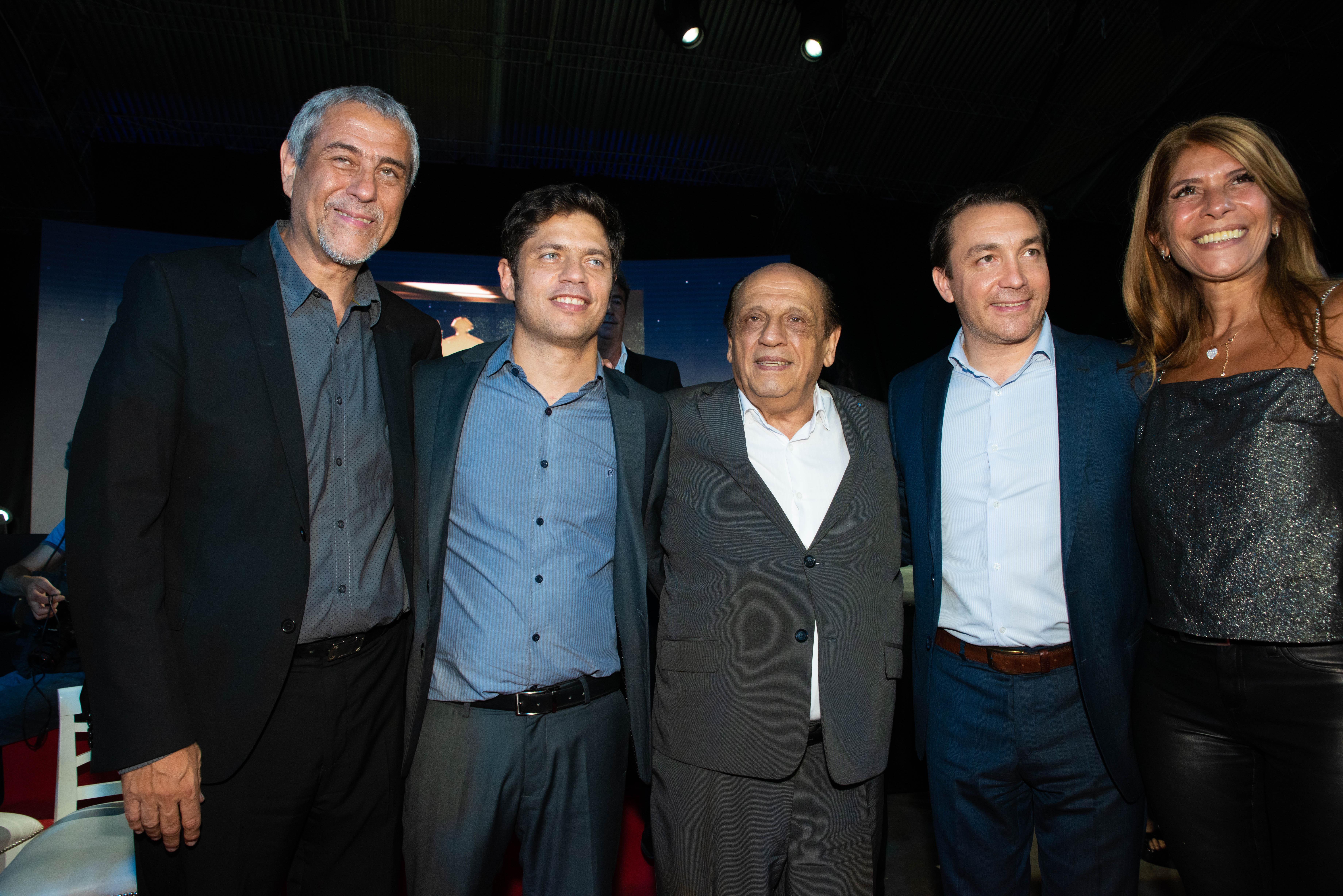 Jorge Ferarresi (intendente de Avellaneda), Axel Kicillof (gobernador de Buenos Aires), Juan José Mussi (intendente de Berazategui) y Andrés Watson (intendente de Florencio Varela).