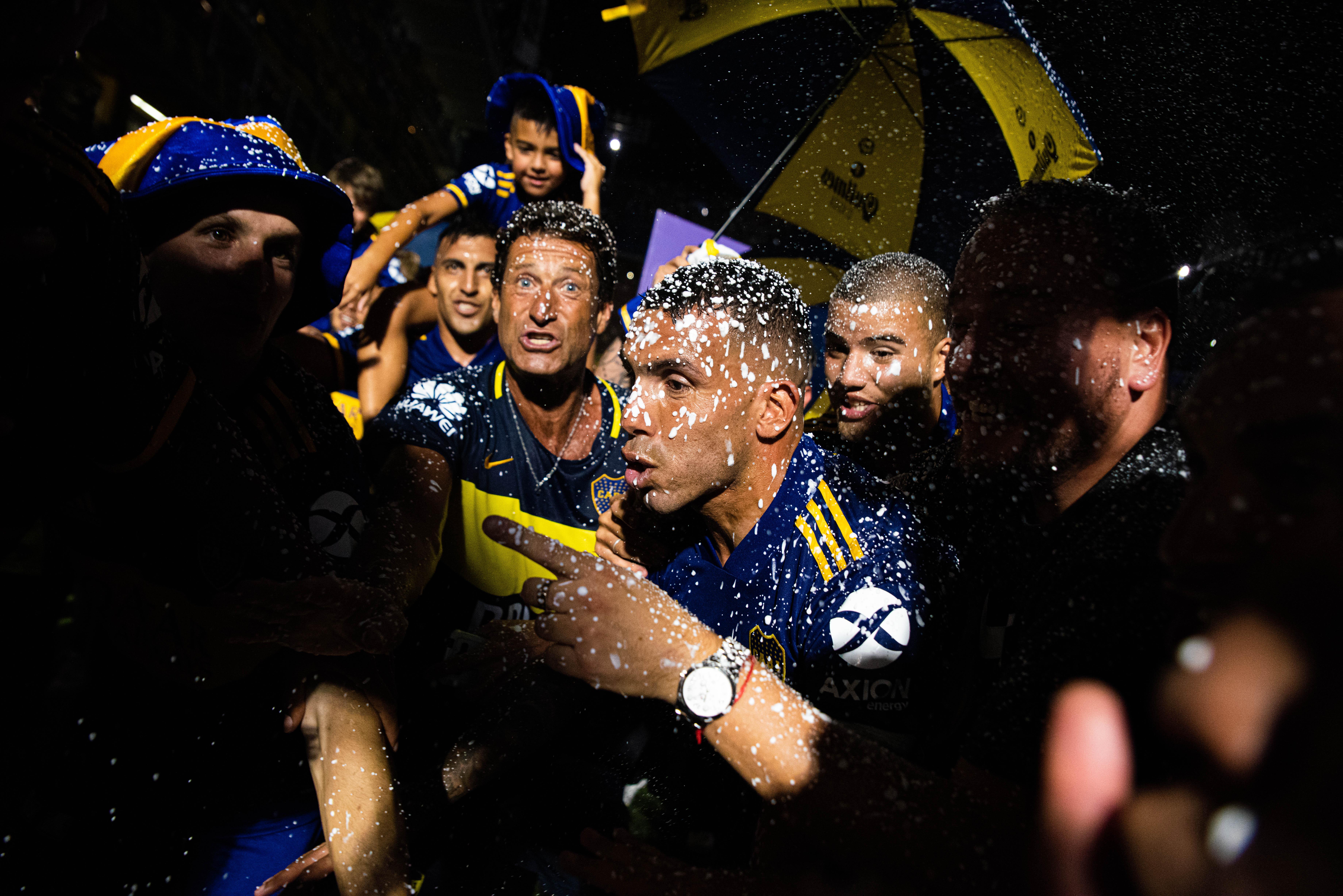 Tevez marcó el gol de la victoria de Boca (Franco Fafasuli)