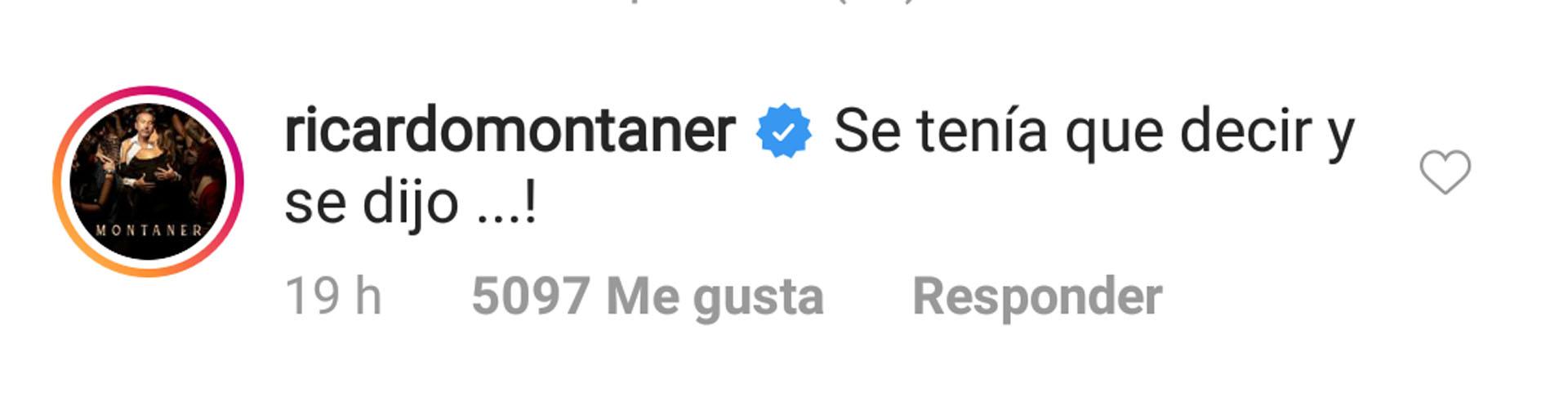 El comentario de Ricardo Montaner (Foto: Instagram)