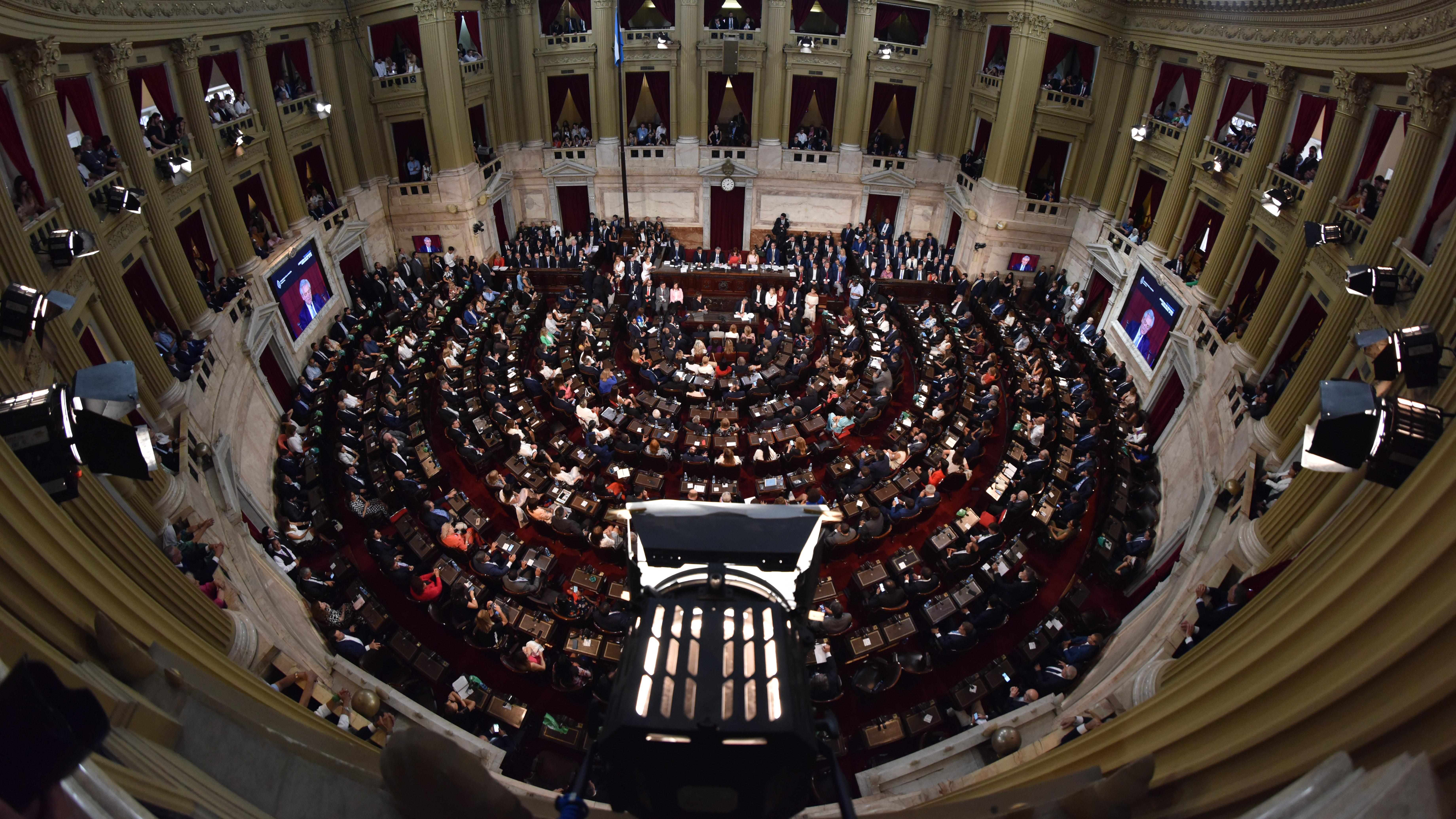 El plano cenital de la Cámara de Diputados donde históricamente se celebran las aperturas de sesiones legislativas