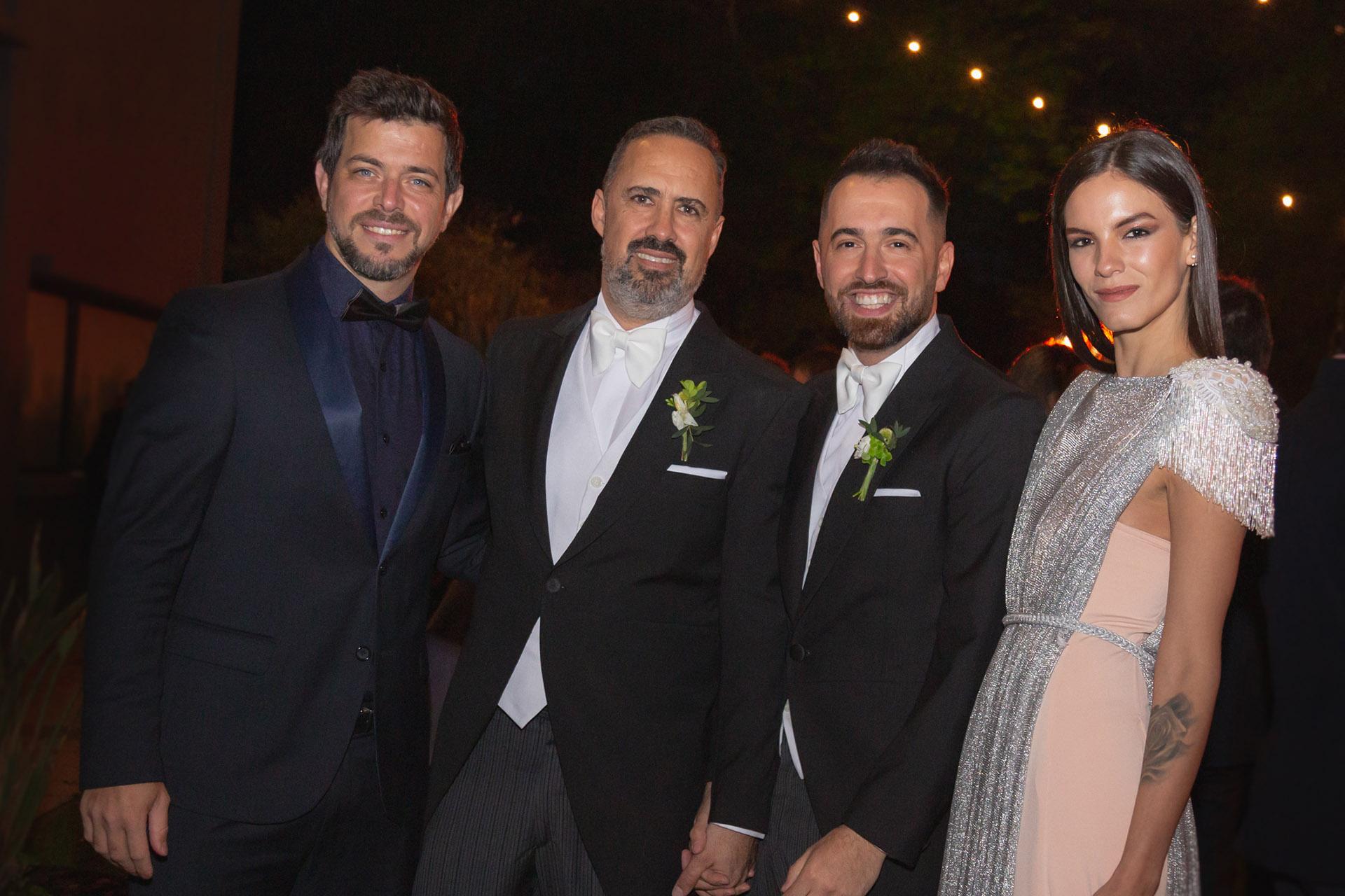 José Bianco y su pareja, Laura Blanco