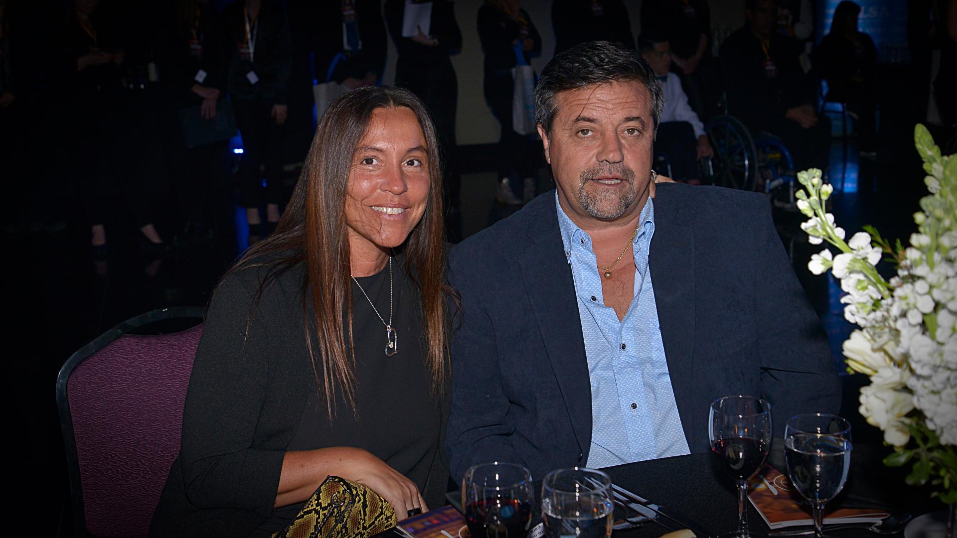 Ricardo Caruso Lombardi y su mujer
