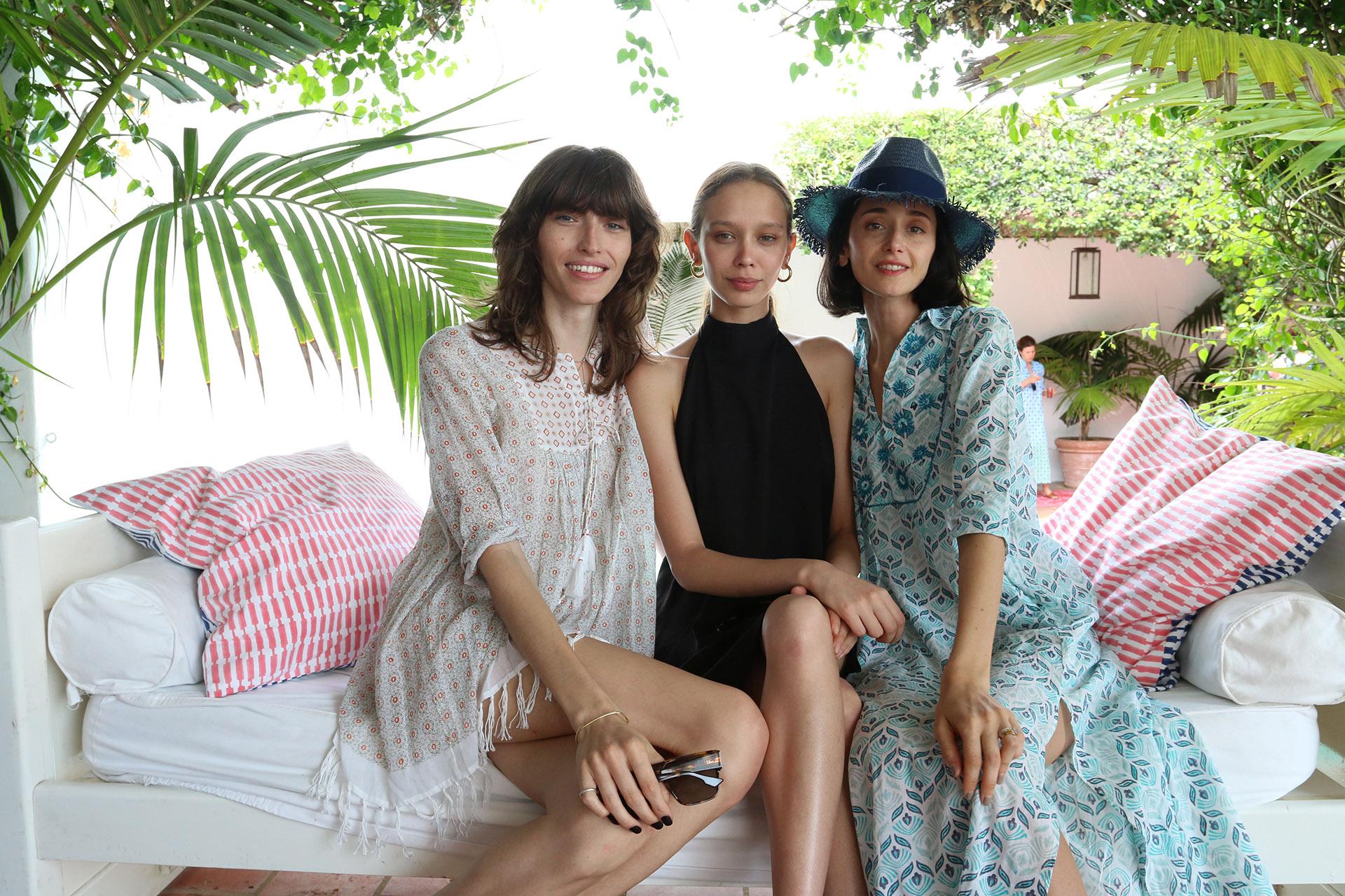 Las modelos Dafne Cejas, Moira Brentz y Cecilia Méndez