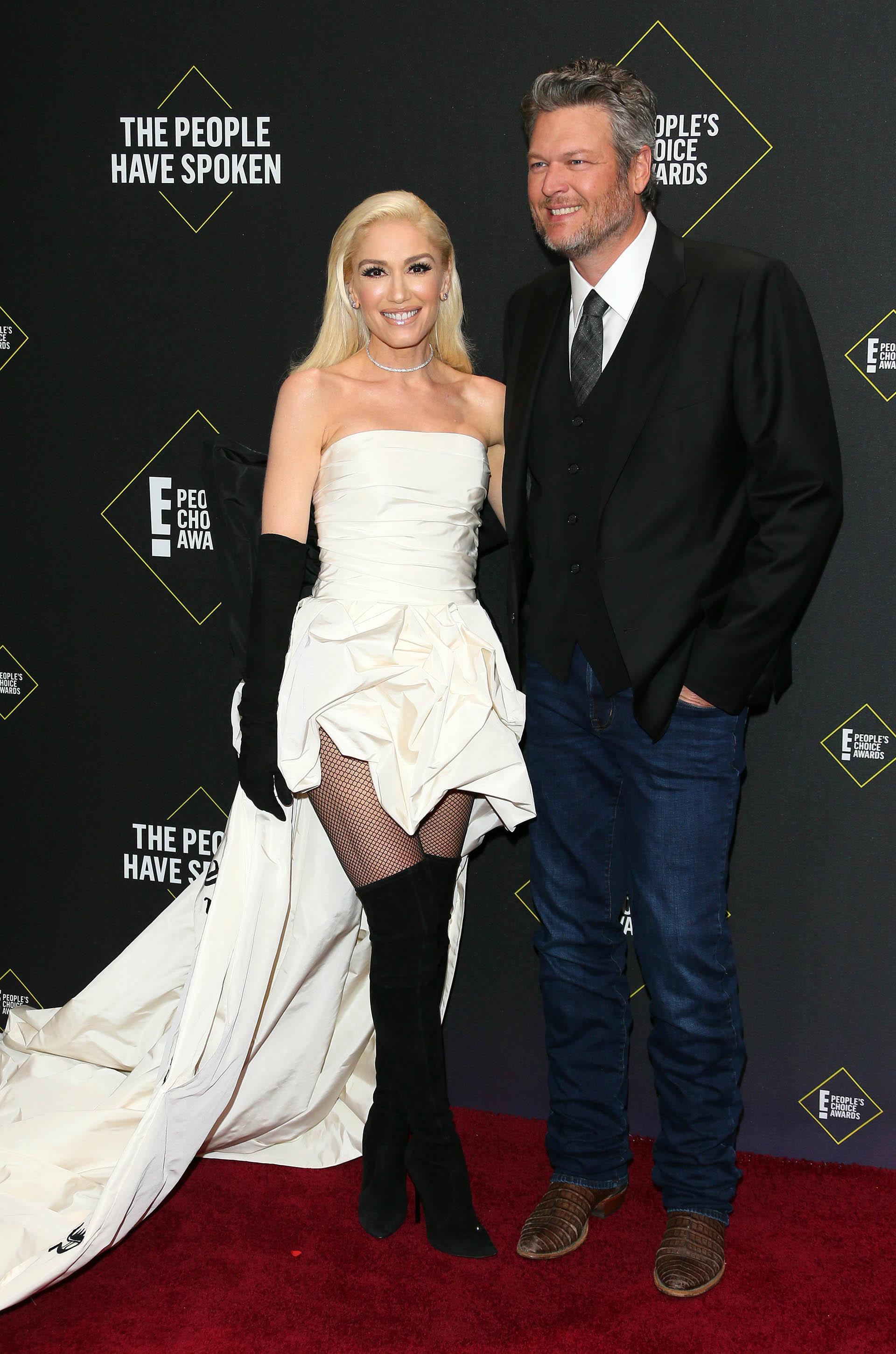 La cantante Gwen Stefani y Blake Shelton