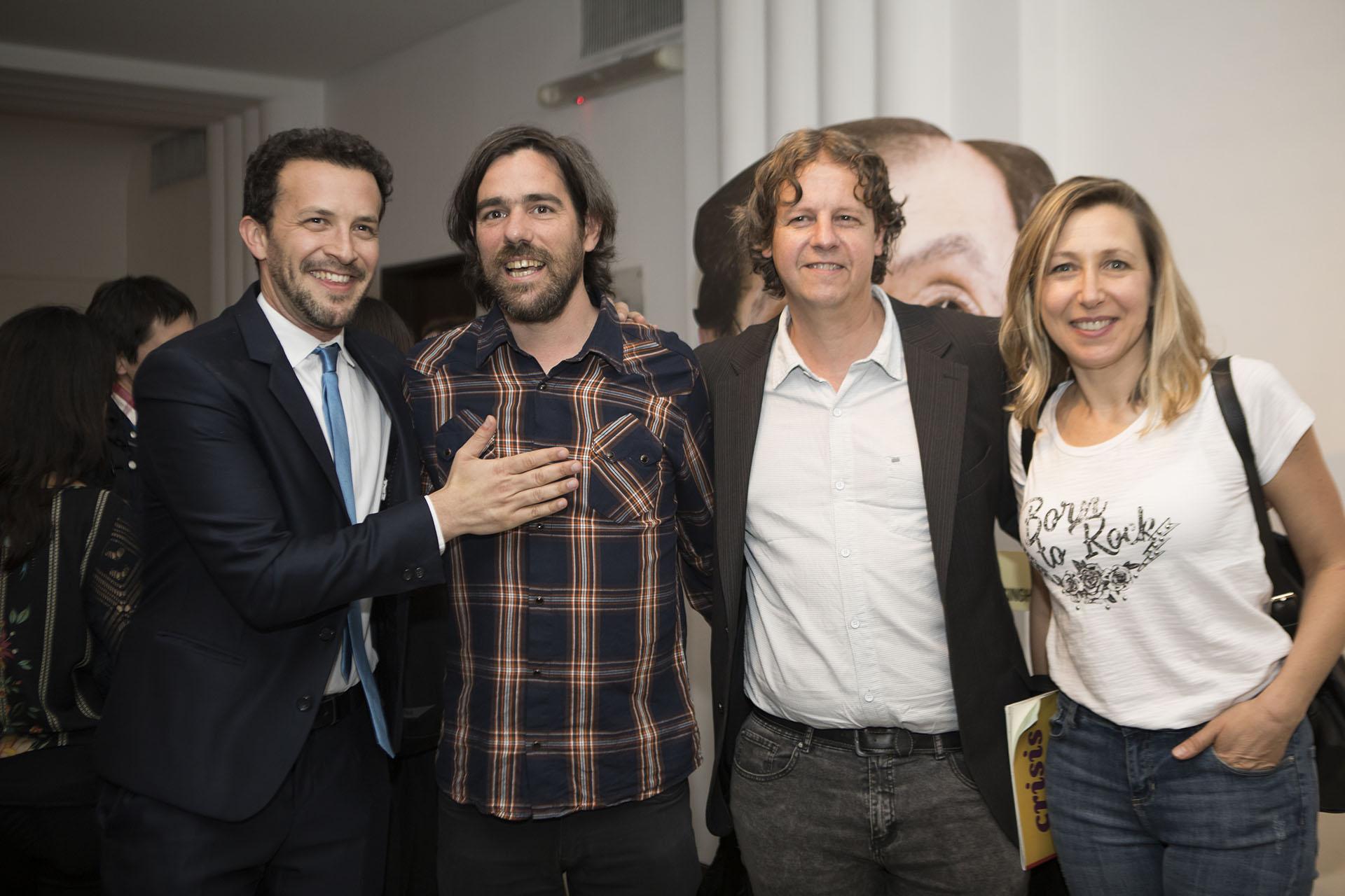 Alejandro Bercovich junto a Nicolás Del Caño, Christian Castillo y Myriam Bregman