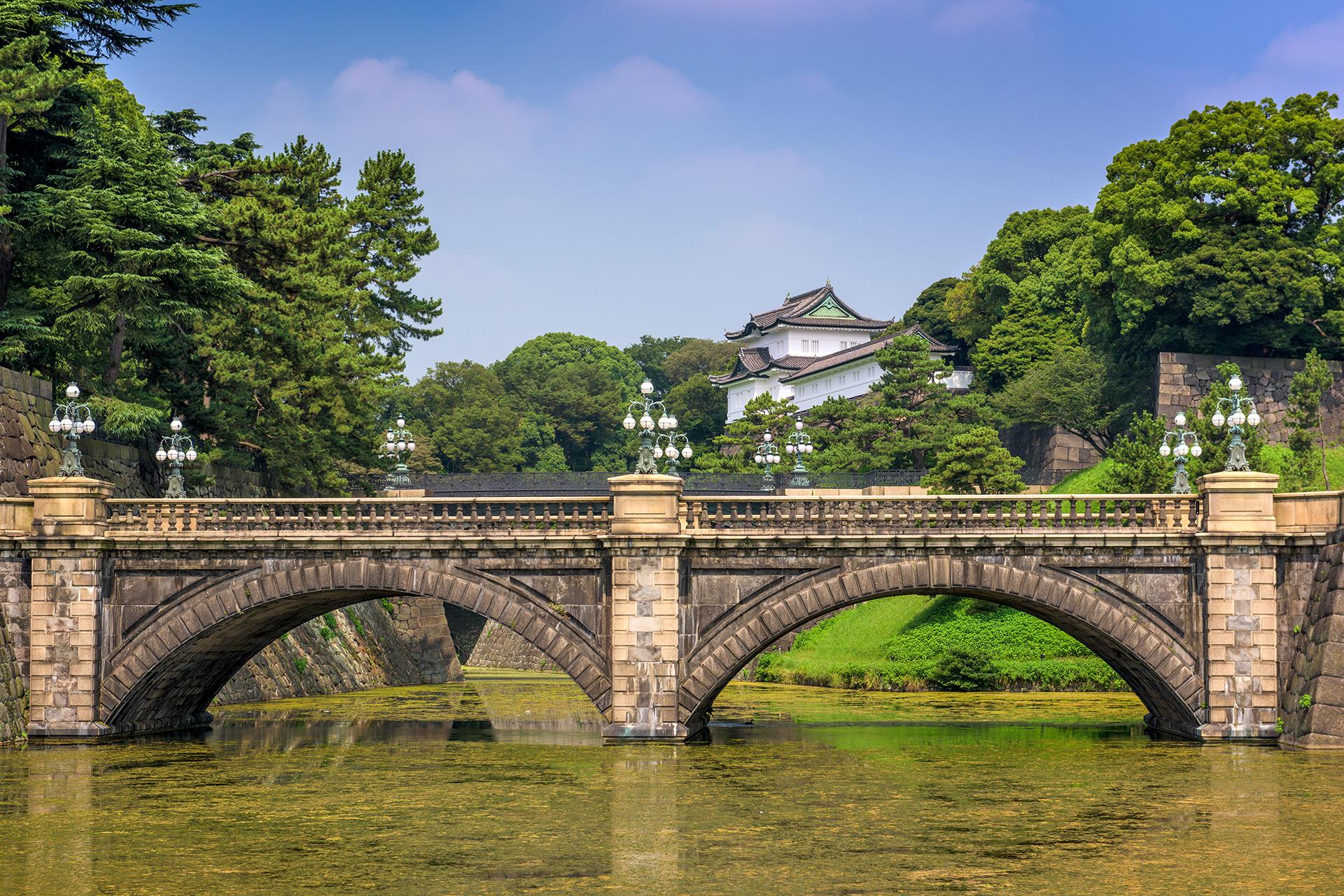 El Palacio Imperial será uno de los escenarios olímpicos de Tokio 2020. La competición de marcha tiene lugar en el parque del Palacio Imperial