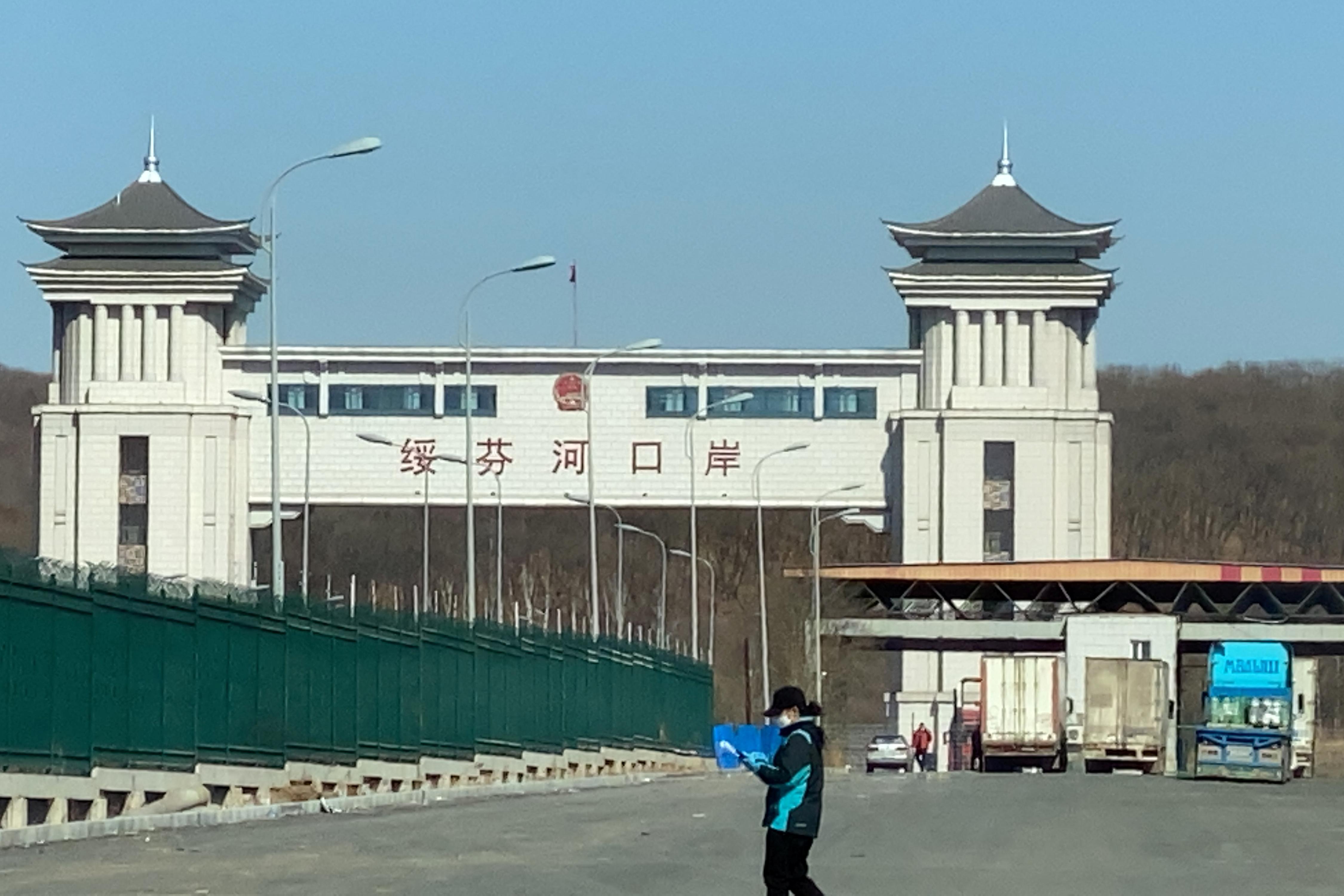 El puerto de Suifenhe y un paso fronterizo entre China y Rusia (Reuters)