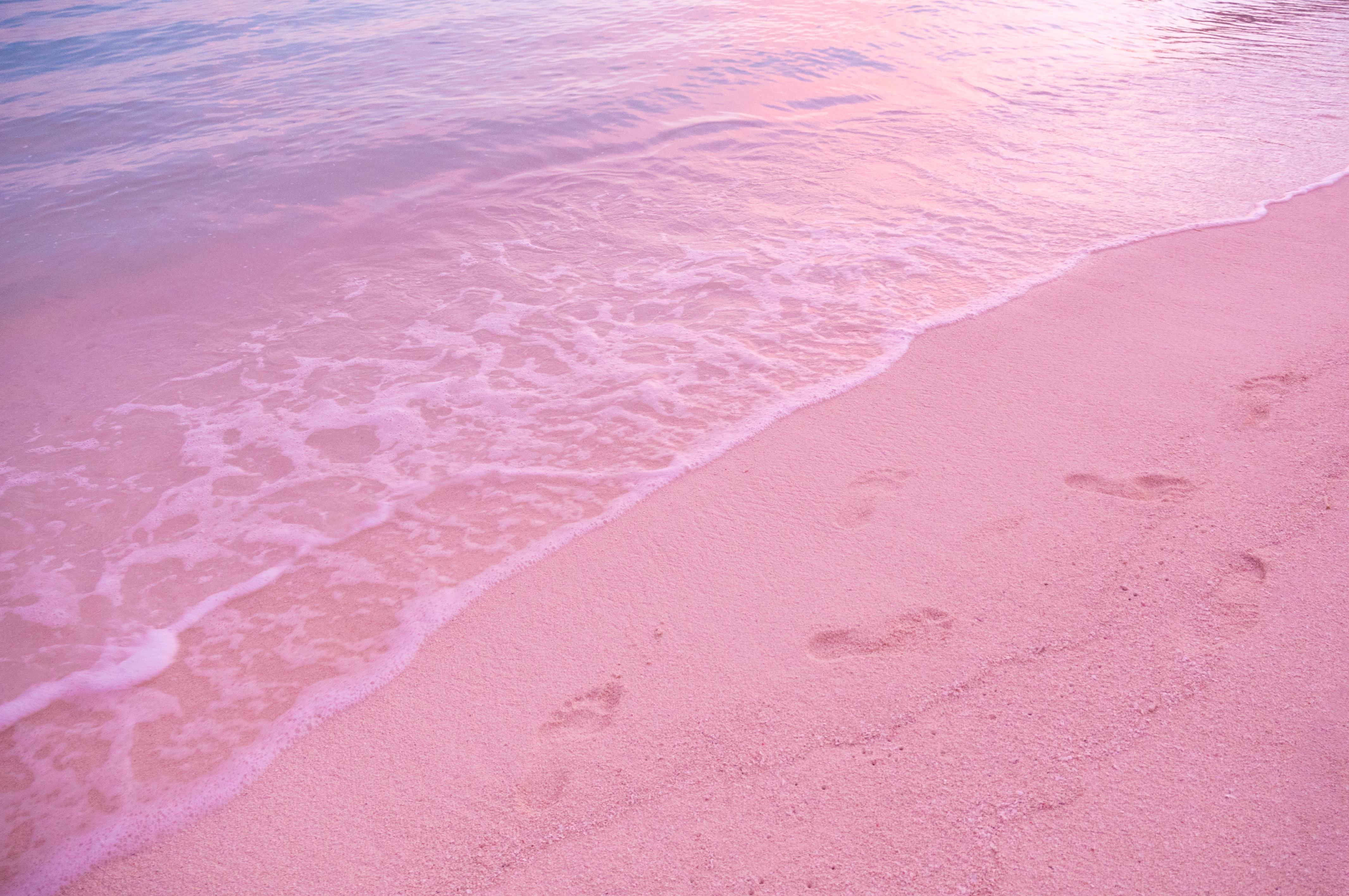 Harbour Island en las Bahamas es el hogar de tramos de costa acogedores y aguas suaves protegidas por un arrecife de coral en alta mar. Esta parte de la isla es conocida por su arena rosa pálida hecha de conchas de color rojo brillante y rosa de los insectos microscópicos de Foraminifera