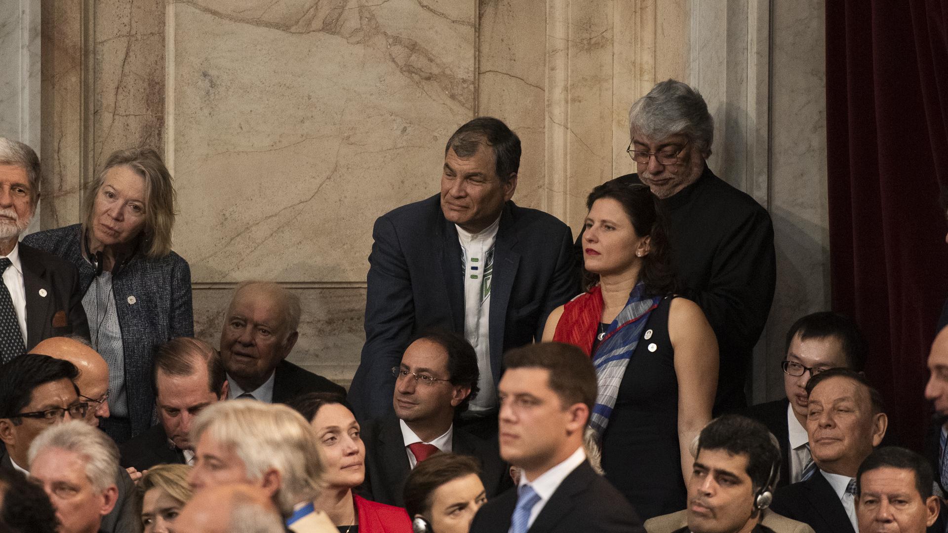 El ex presidente ecuatoriano Rafael Correa, uno de los líderes políticos de la región más cercanos a Cristina Kirchner, fue uno de los primeros protagonistas políticos de Latinoamérica en llegar al Congreso
