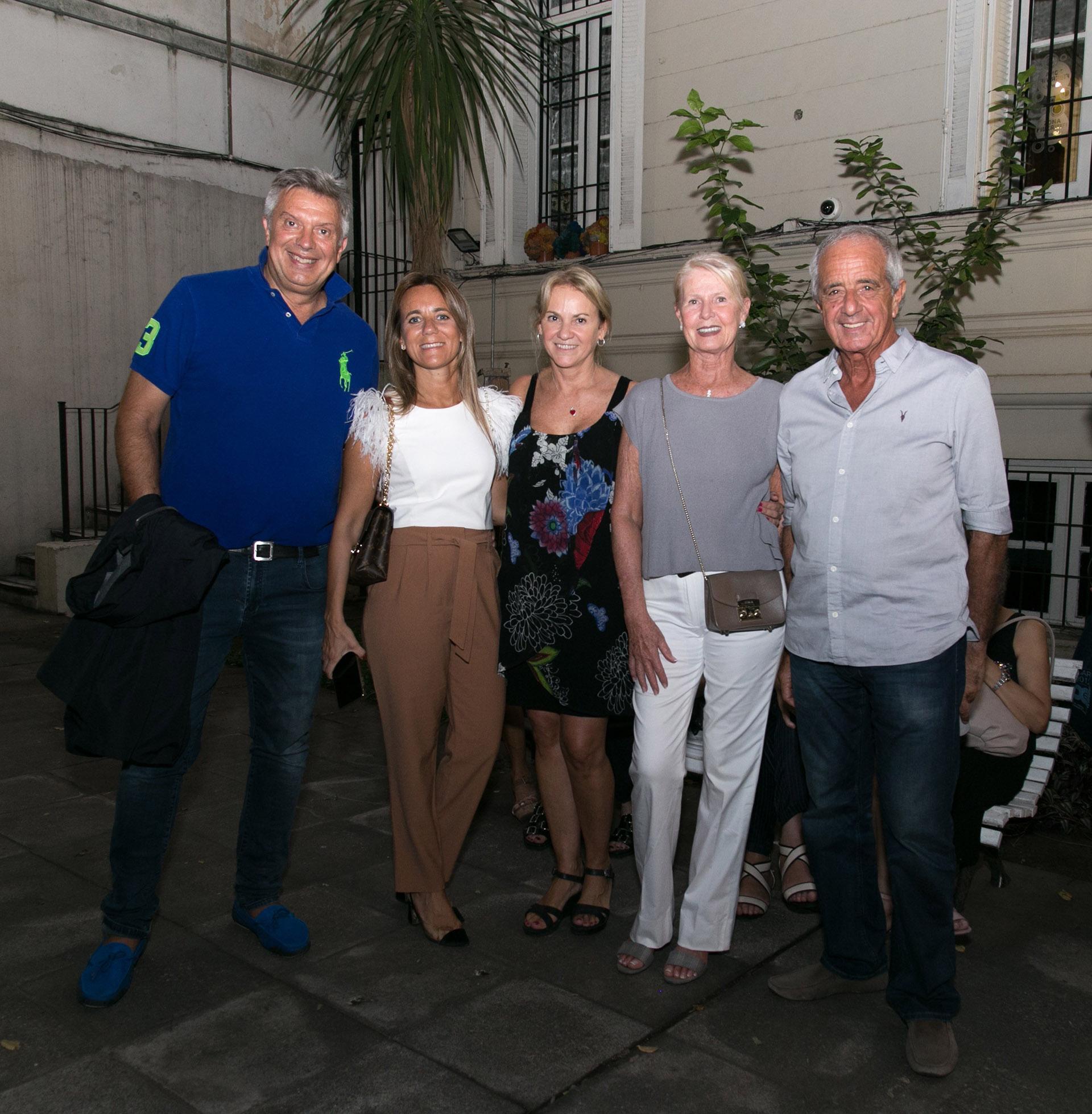 Mauricio D'Alessandro, Mariana Gallego, Carmela Blanco, Patricia y Rodolfo D'Onofrio