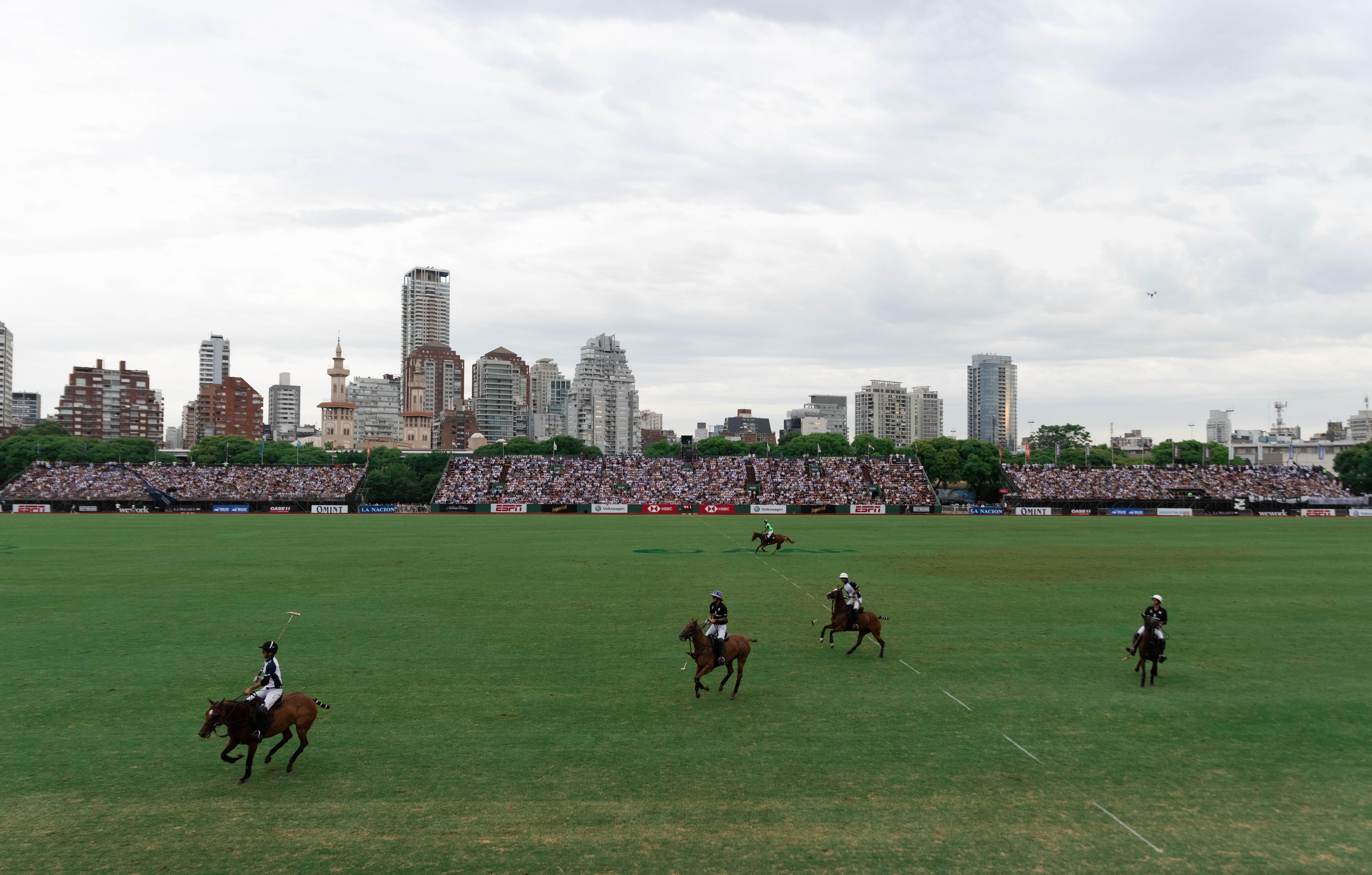 La imponente vista de la final en el Campo Argentino de Polo