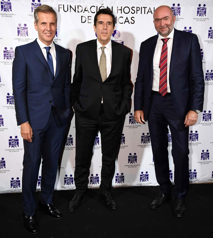 El ex presidente del Banco Central, Martín Redrado; el ex presidente del Banco Nación, Carlos Melconian, y Gustavo Cinosi