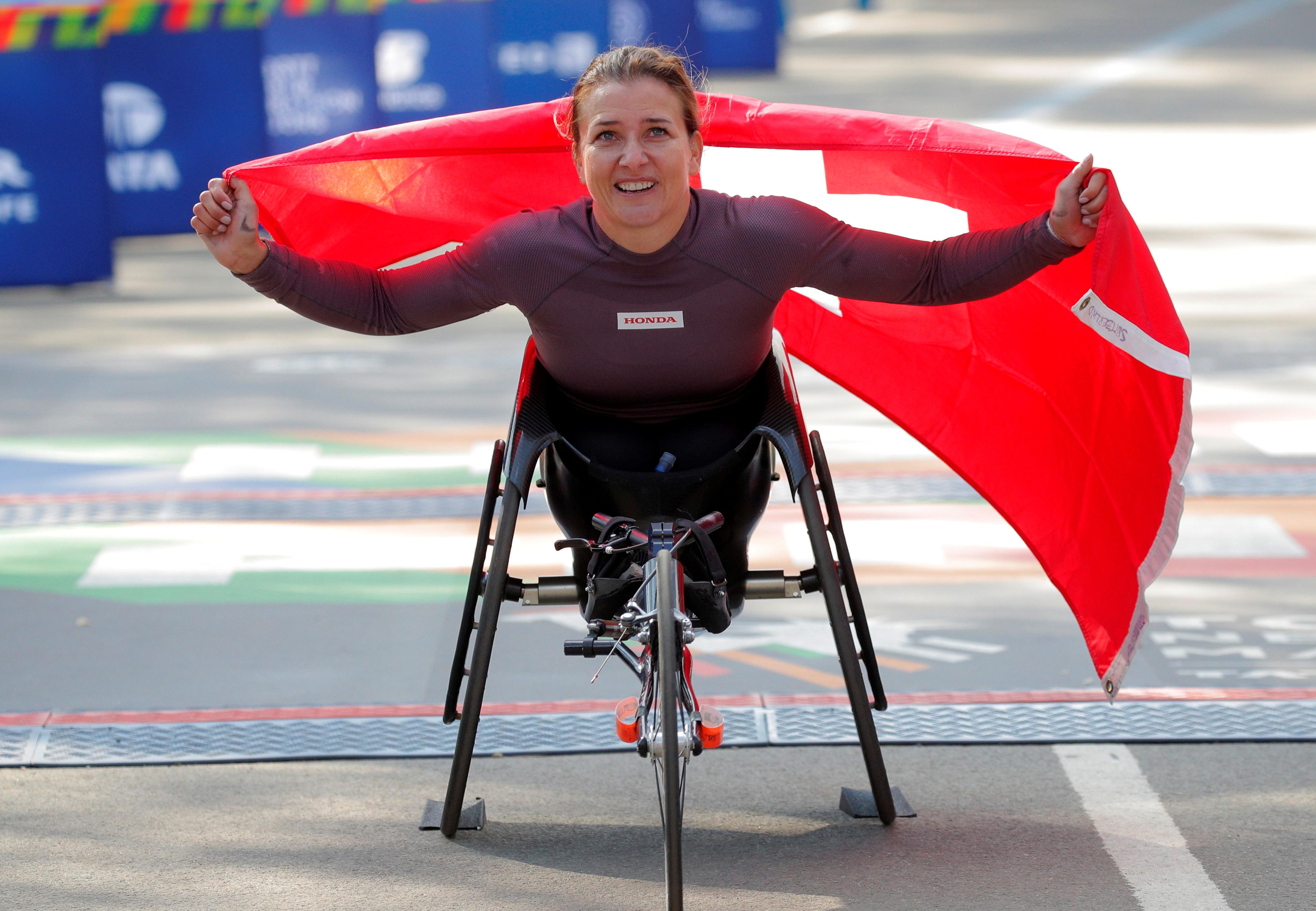 Manuela Schar ganó en su categoría con un tiempo de 1 hora 44 minutos y 20 segundos