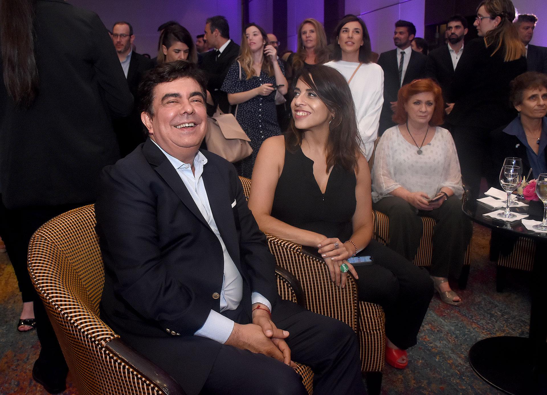 Fernando Espinoza y Victoria Donda
