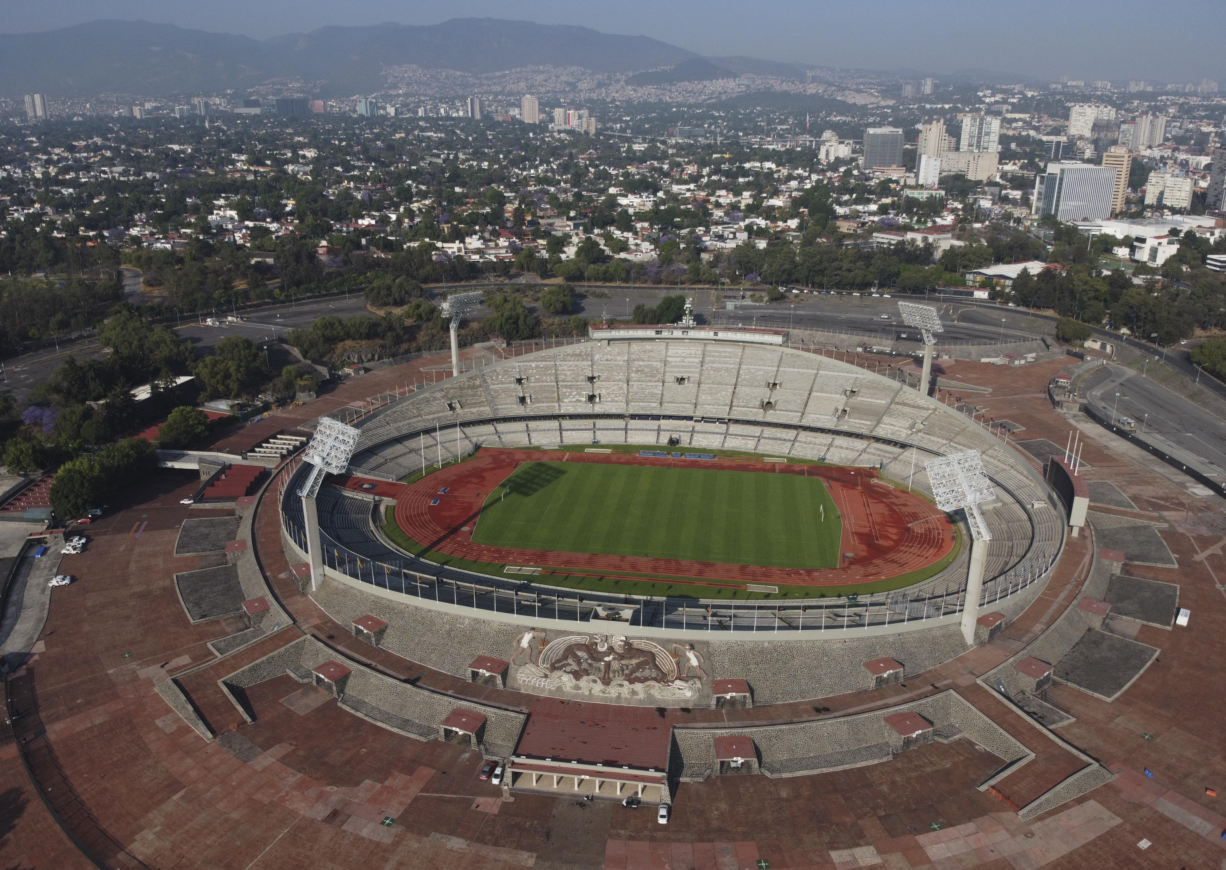 El Estadio Olímpico Universitario en la Ciudad de México, el domingo 22 de marzo de 2020.
